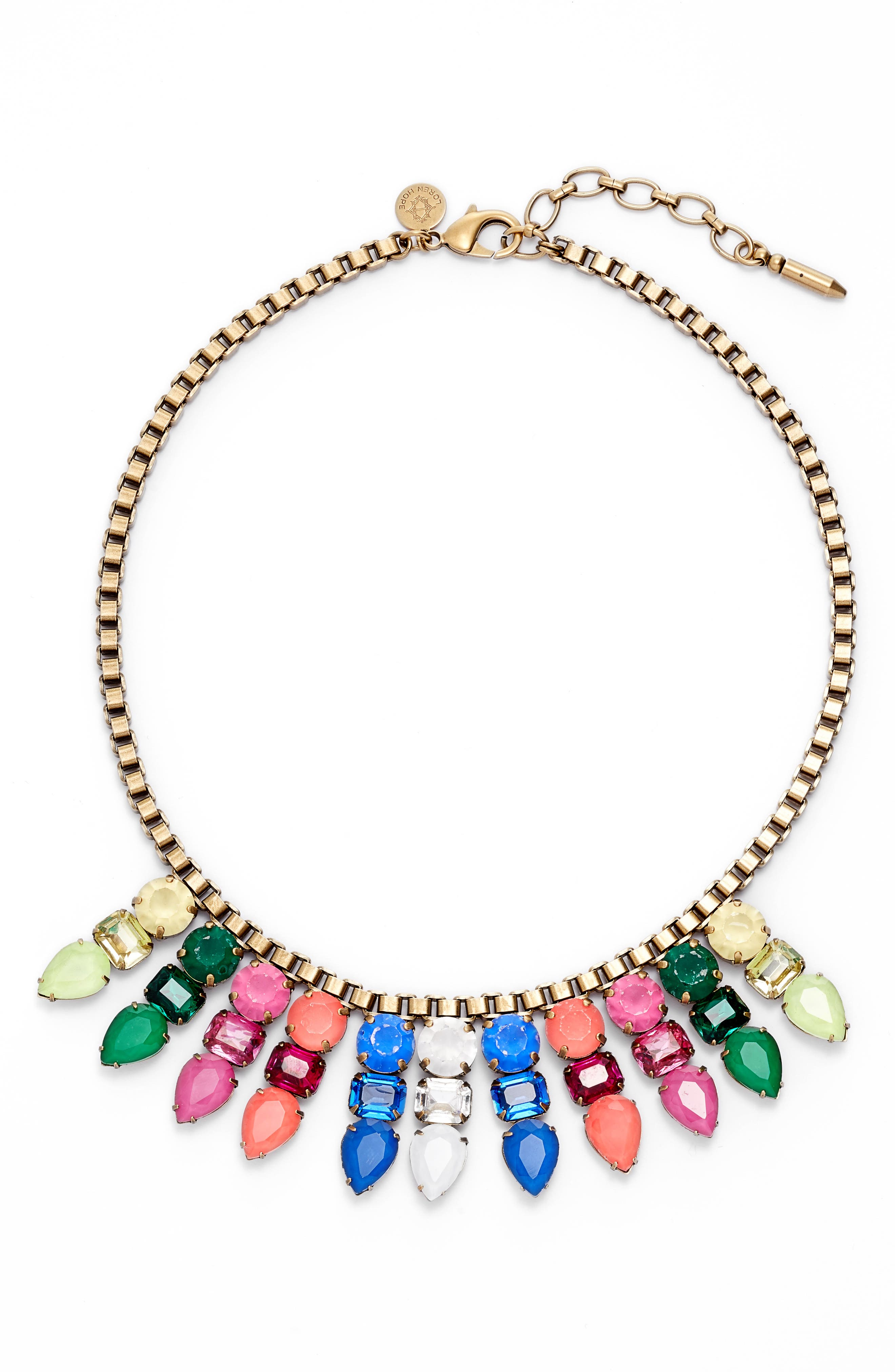 Jewel Bib Necklace,                         Main,                         color, 401