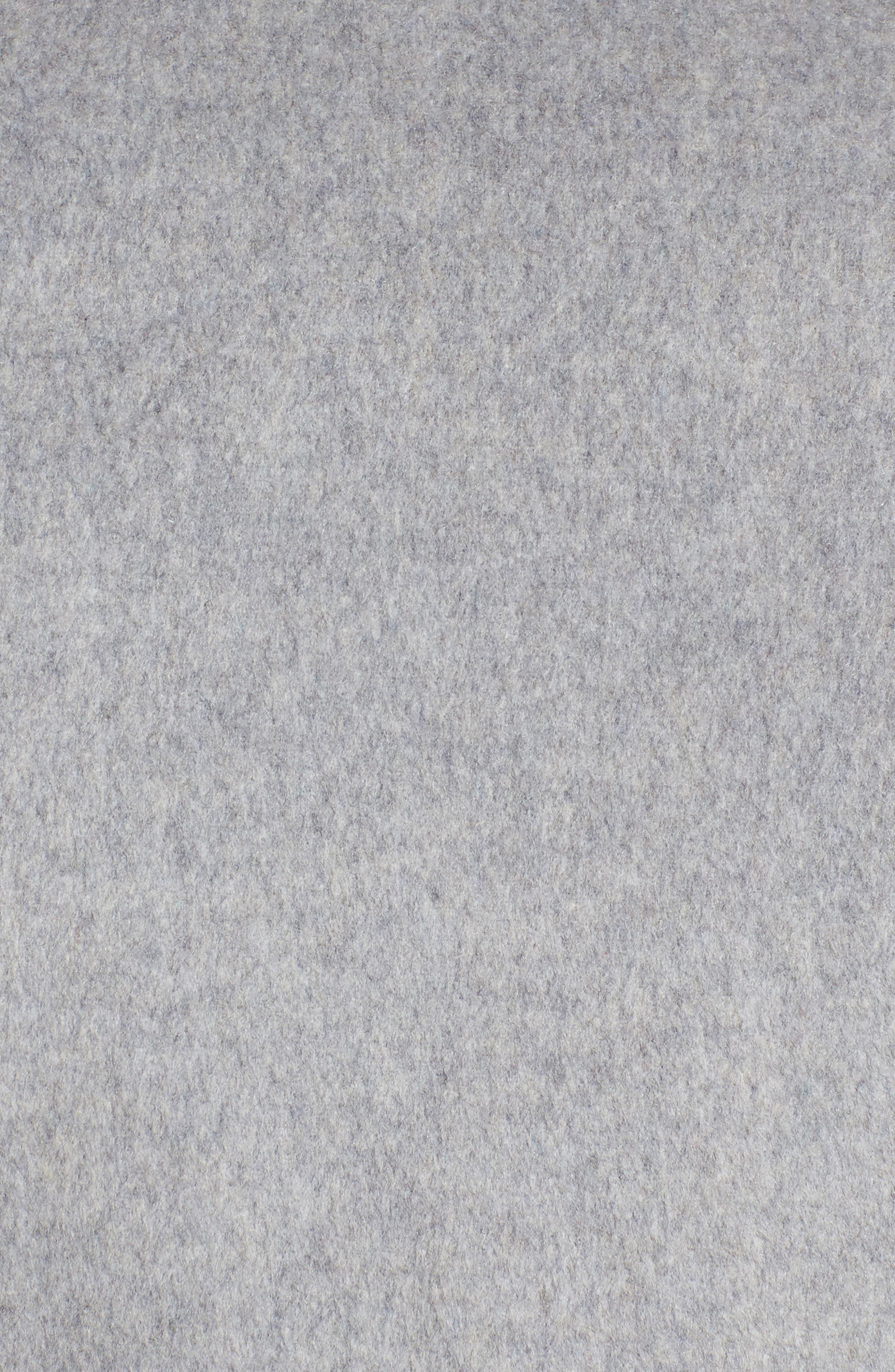 DKNY Wool Blend Wrap Coat,                             Alternate thumbnail 6, color,