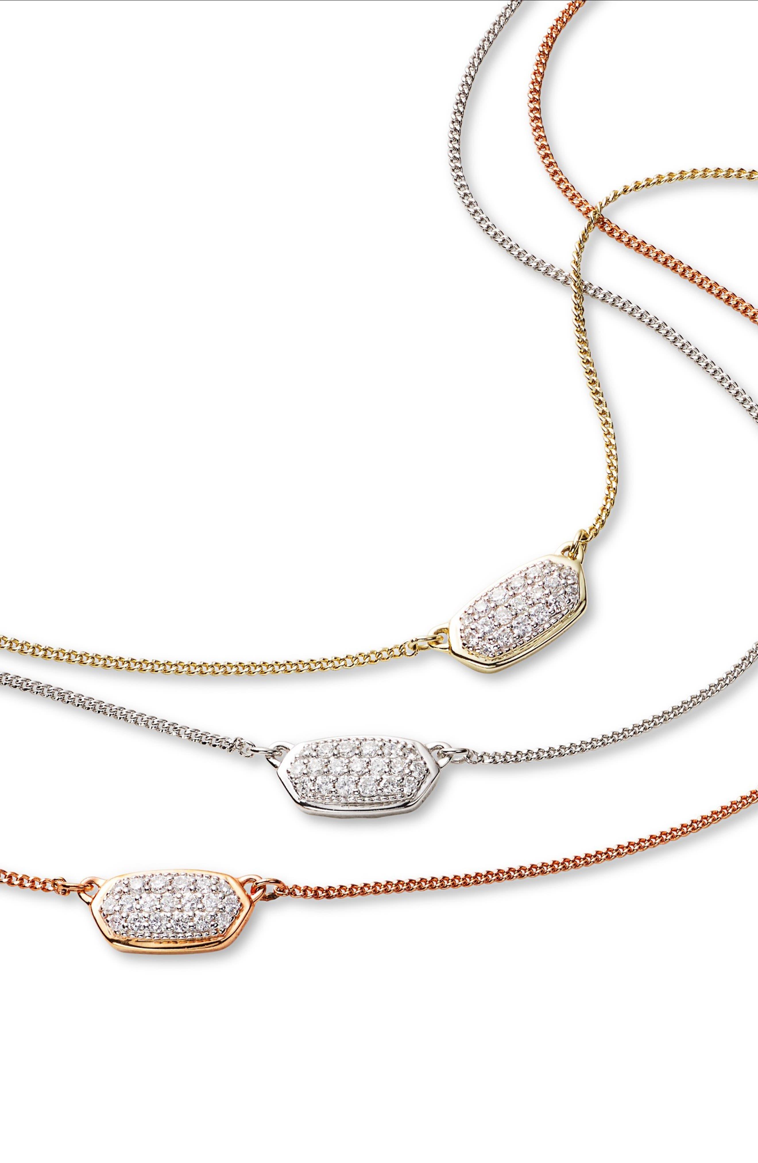 KENDRA SCOTT,                             Lisa Diamond & Gold Pendant Necklace,                             Alternate thumbnail 3, color,                             14K GOLD WHITE DIAMOND