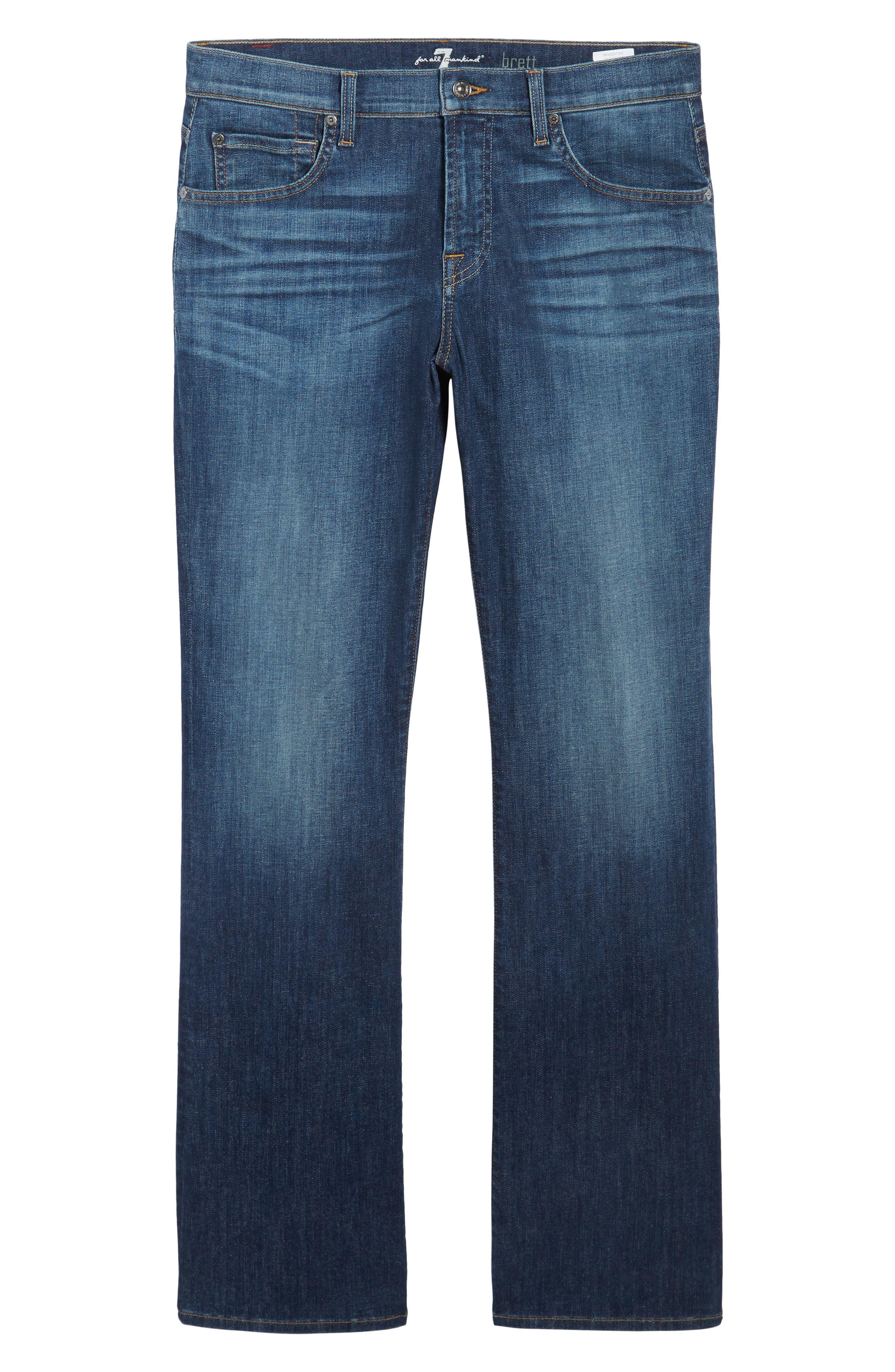 Brett Bootcut Jeans,                             Alternate thumbnail 6, color,                             400