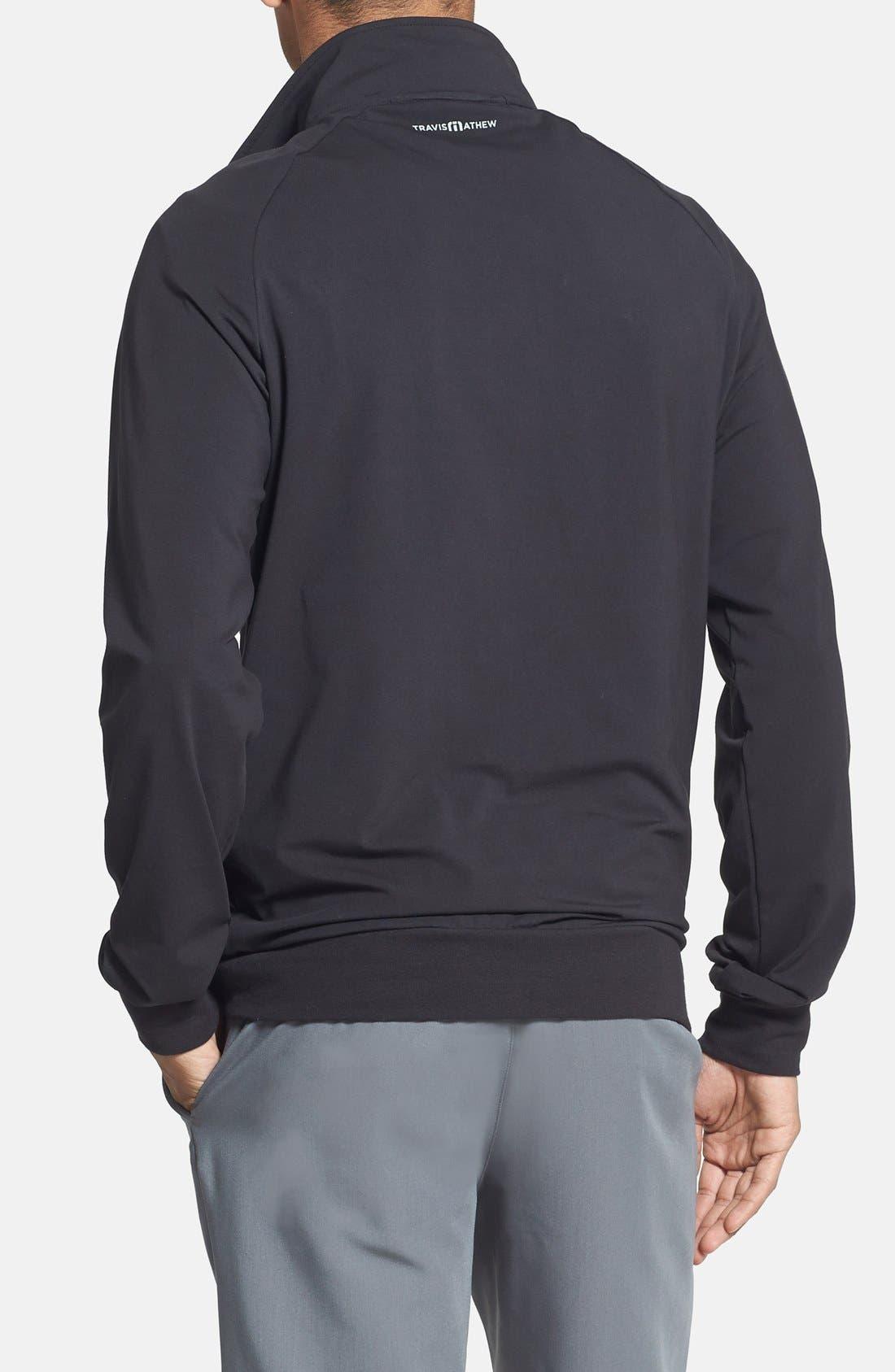 'Strange Love' Trim Fit Wrinkle Resistant Quarter Zip Jacket,                             Alternate thumbnail 25, color,
