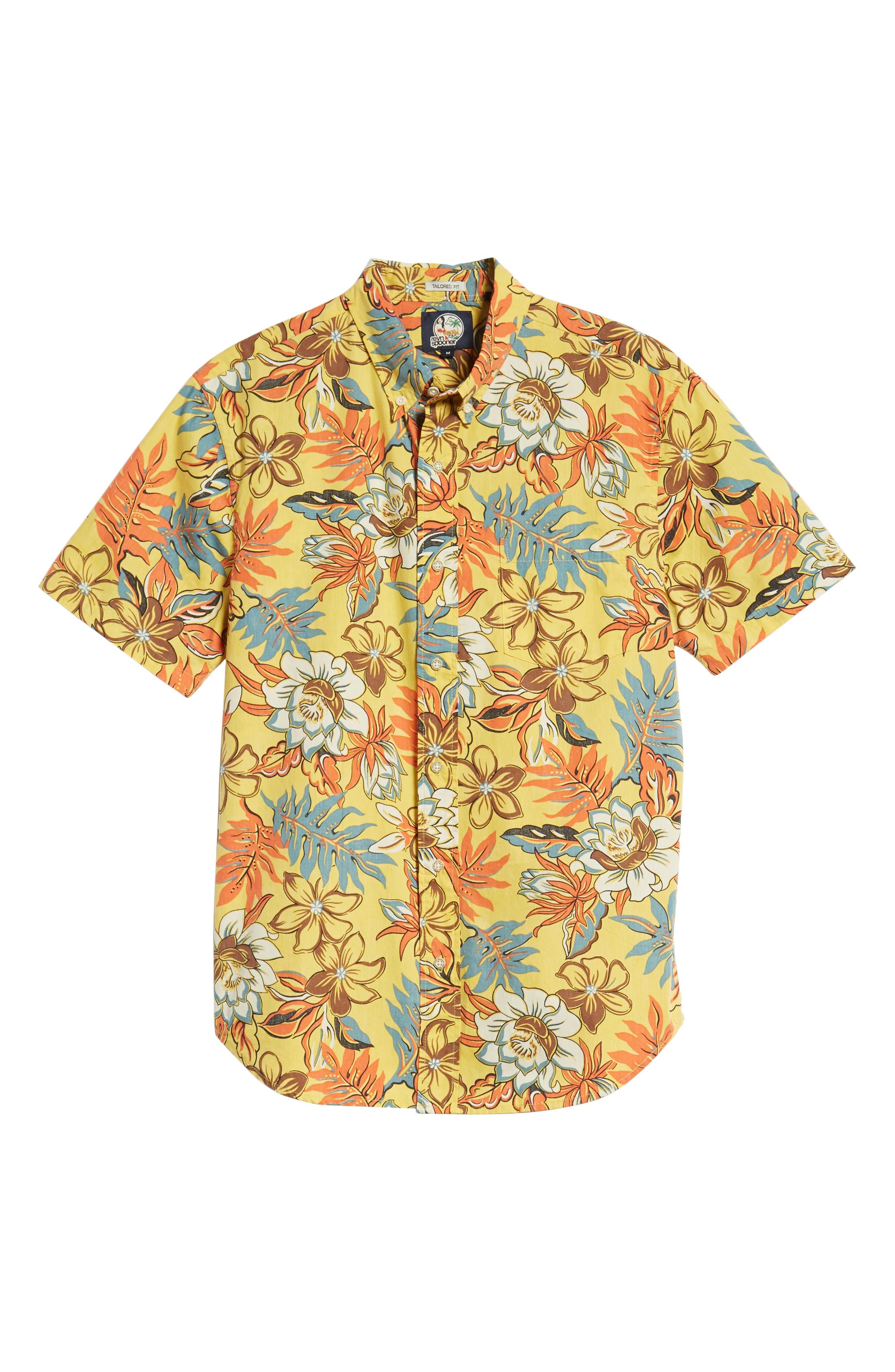 Vintage Hawaiian Regular Fit Floral Sport Shirt,                             Alternate thumbnail 6, color,                             700