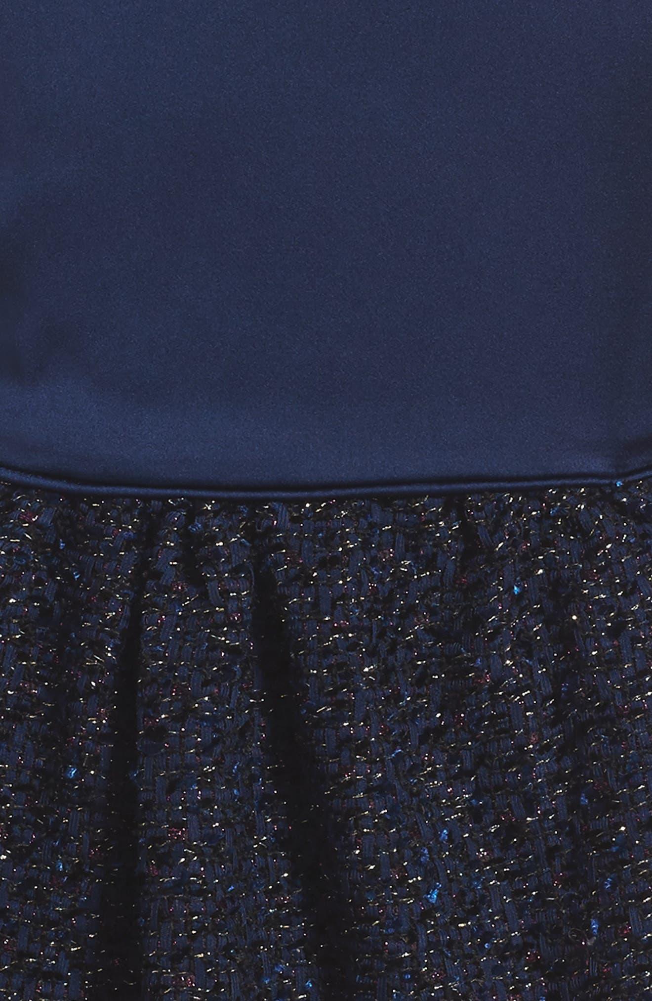 Satin Dress,                             Alternate thumbnail 3, color,                             410
