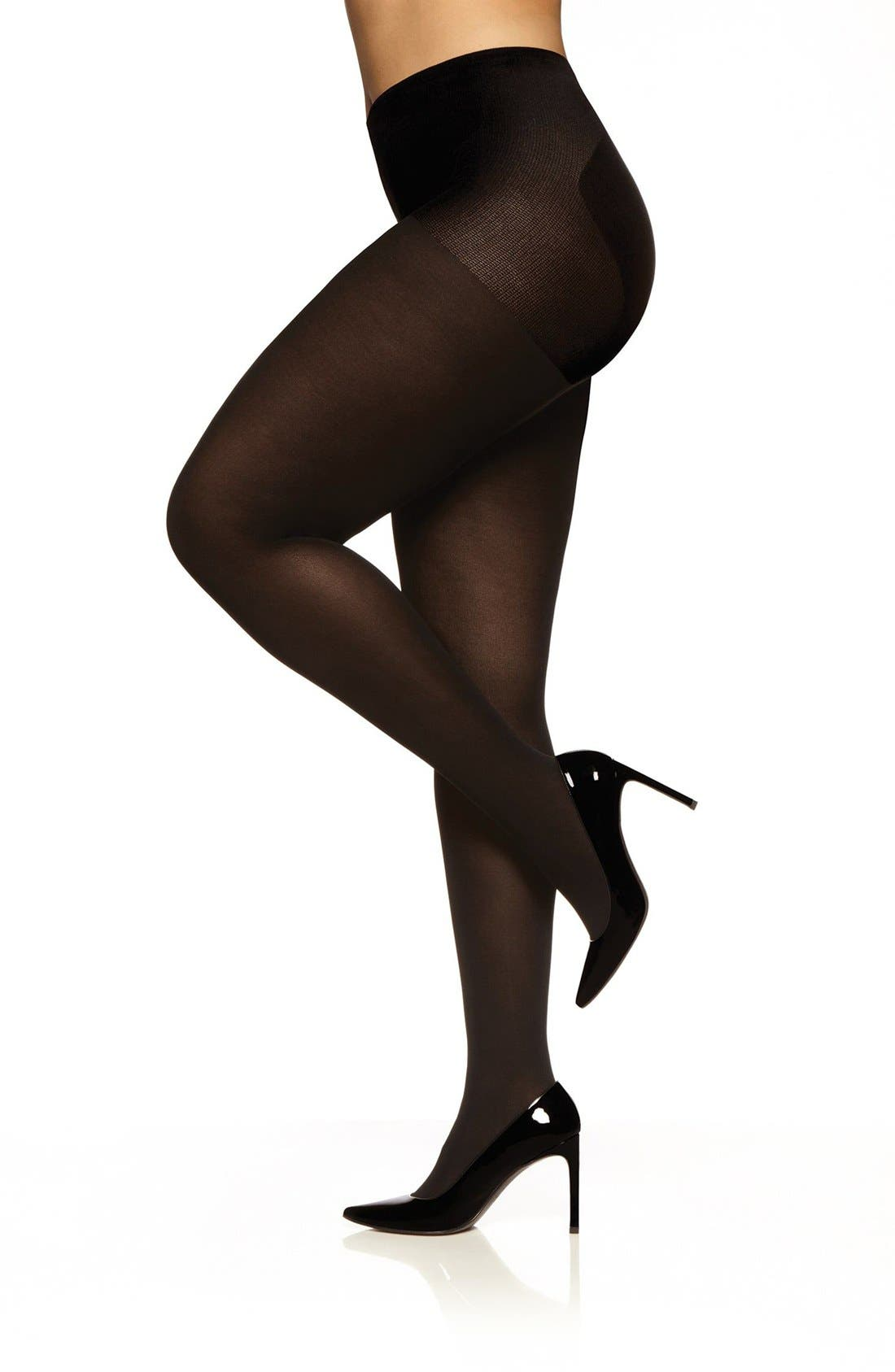 Easy-On Tights,                             Main thumbnail 1, color,                             BLACK