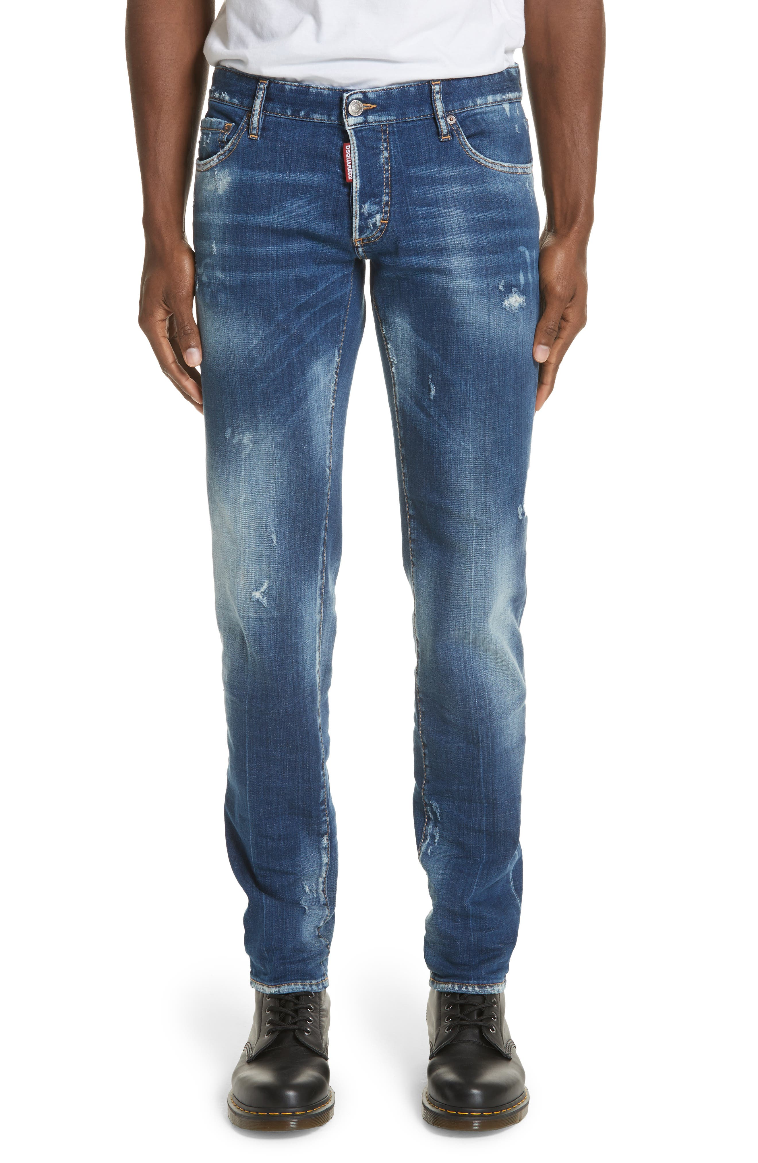 Slim Fit Medium Wash Jeans,                         Main,                         color, 414