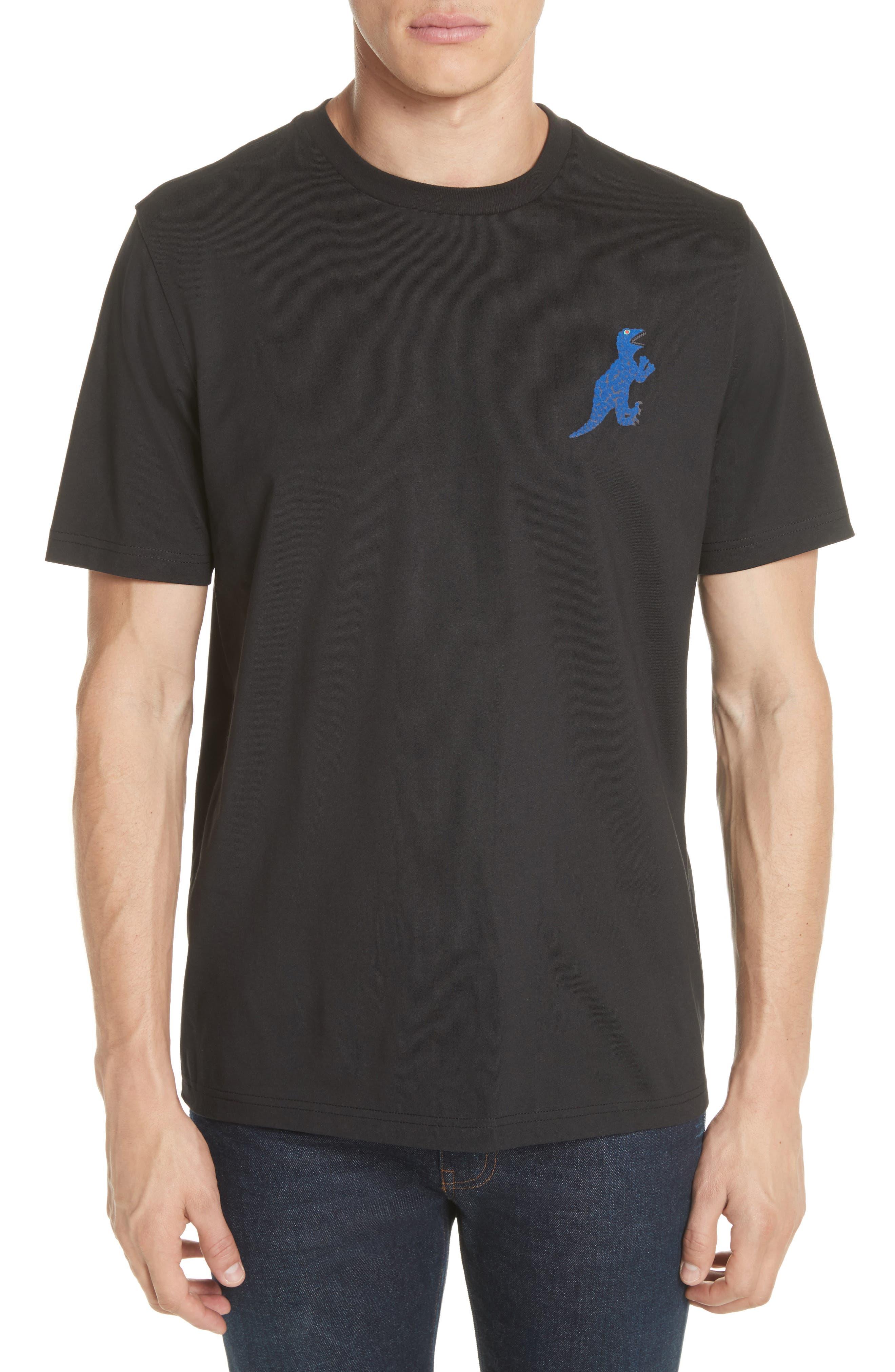 Dino Graphic T-Shirt,                         Main,                         color, BLACK