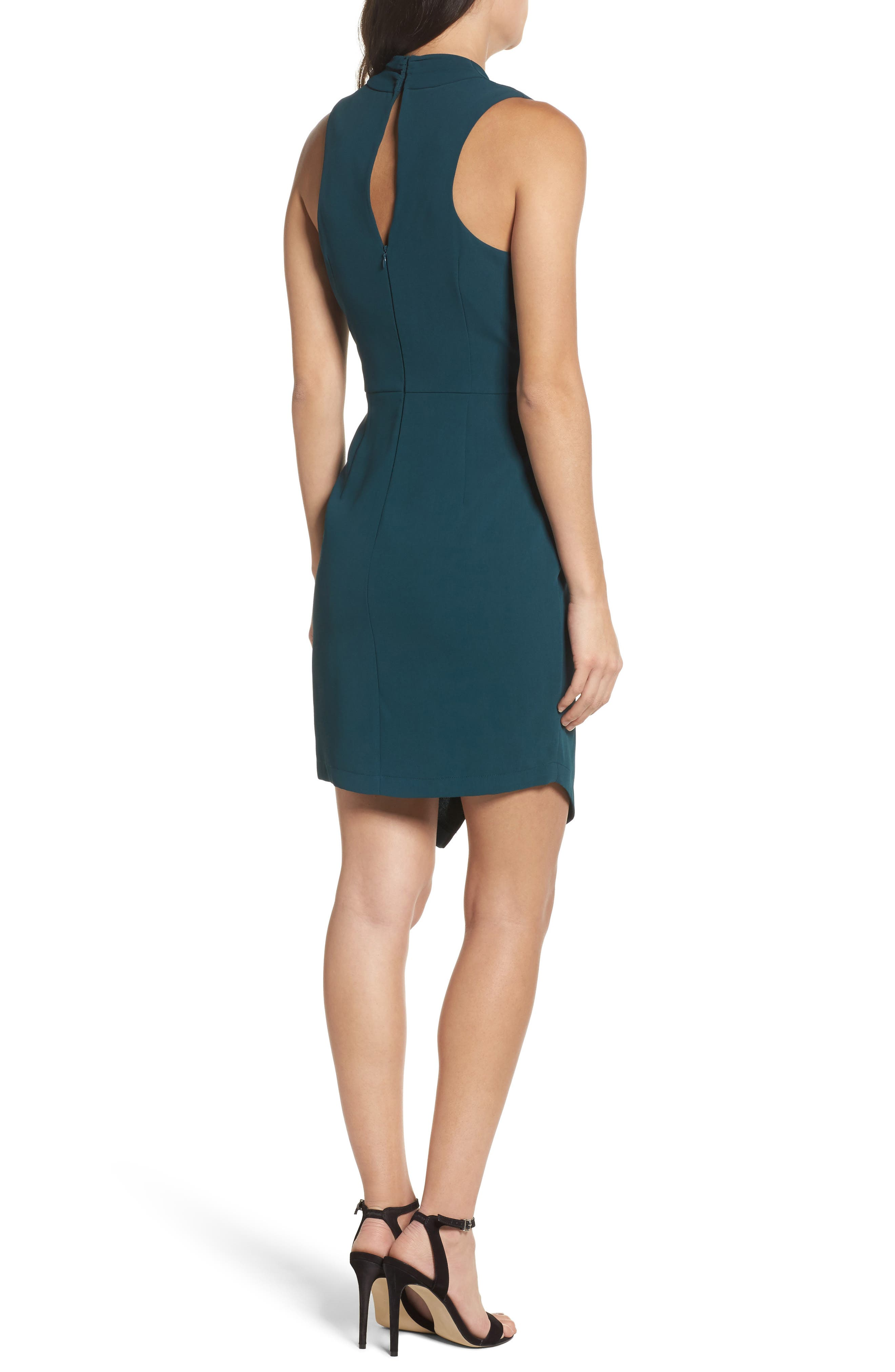 Teri Faux Wrap Sheath Dress,                             Alternate thumbnail 2, color,                             401