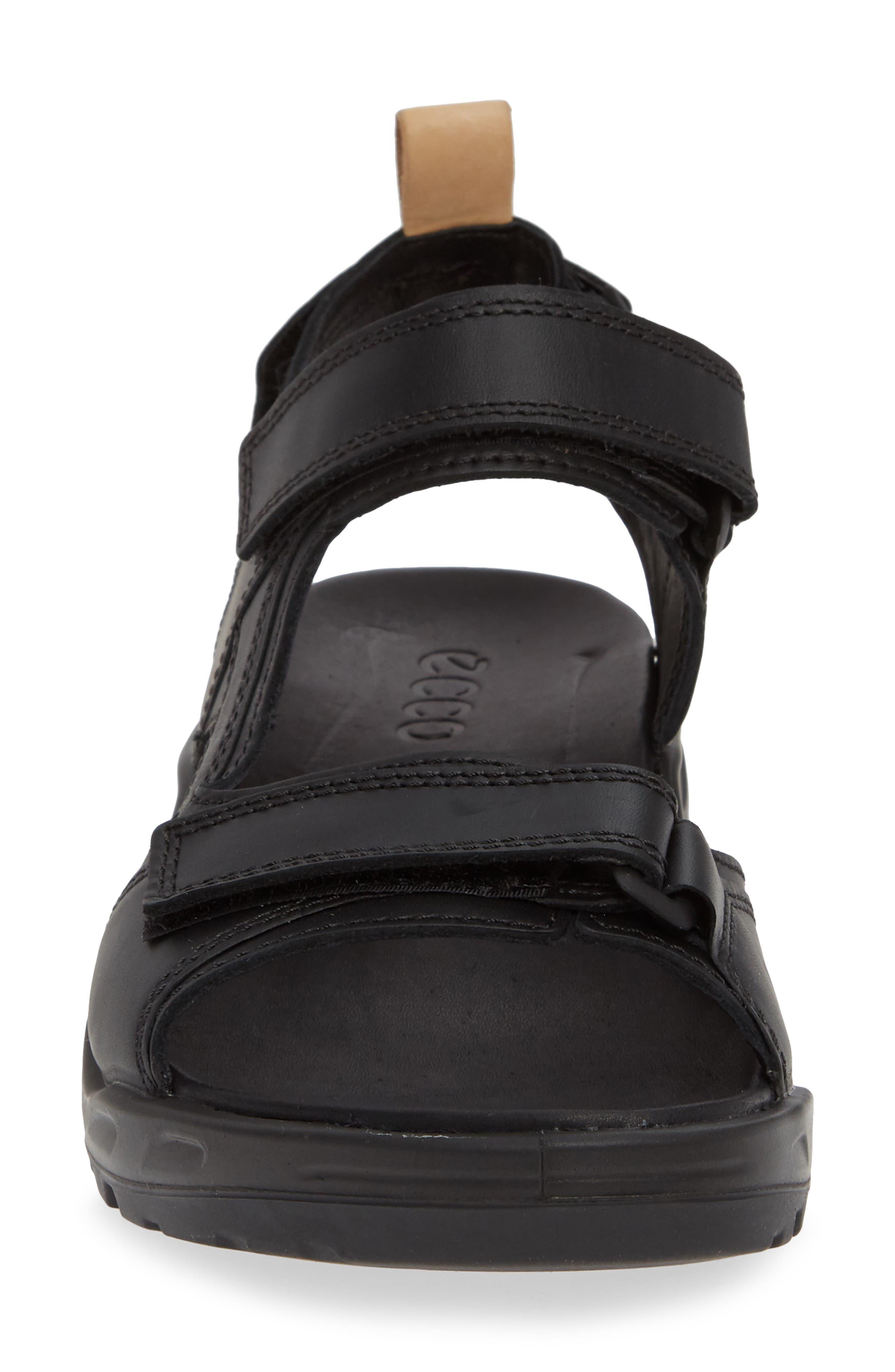 Premium Offroad Sandal,                             Alternate thumbnail 4, color,                             BLACK LEATHER