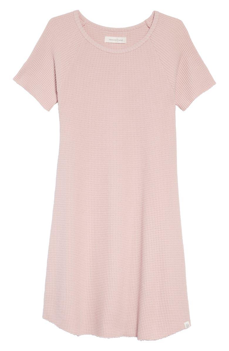 Treasure Bond Waffle Knit T Shirt Dress Big Girls Nordstrom