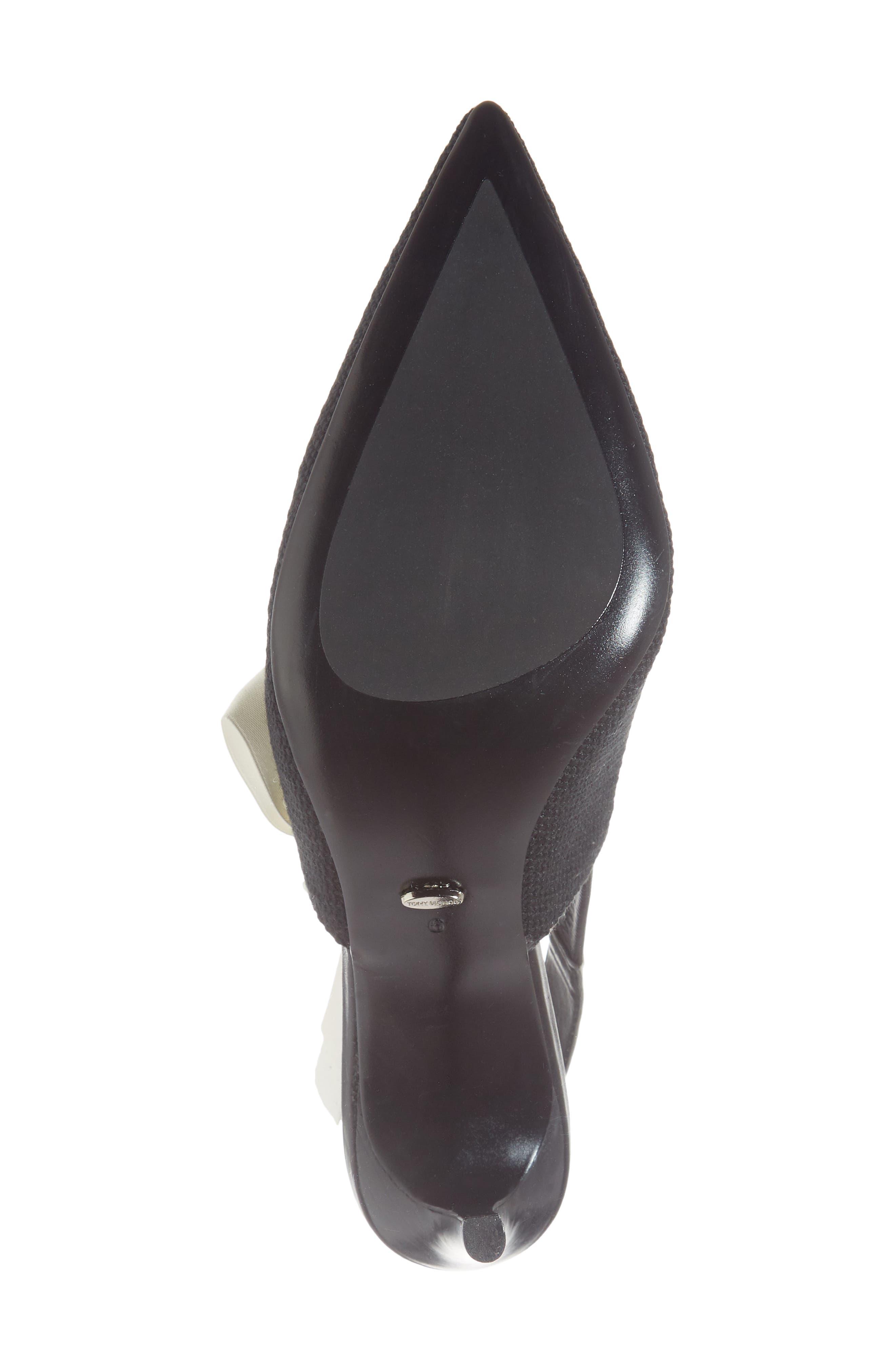 Evita Sandal,                             Alternate thumbnail 6, color,                             BLACK FABRIC
