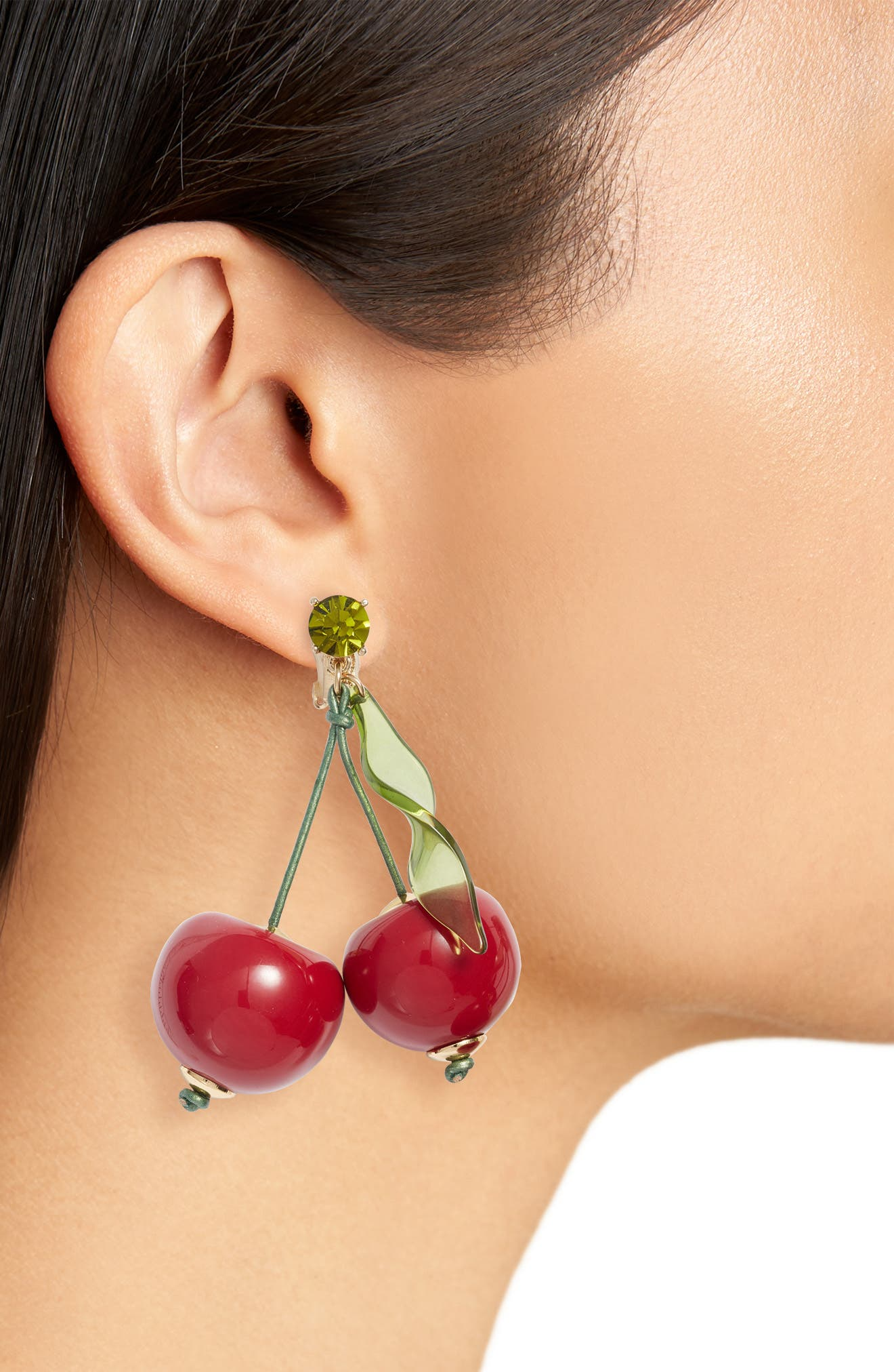 Kate Spade New York Ma Cherie Cherry Clip Drop Earrings Nordstrom