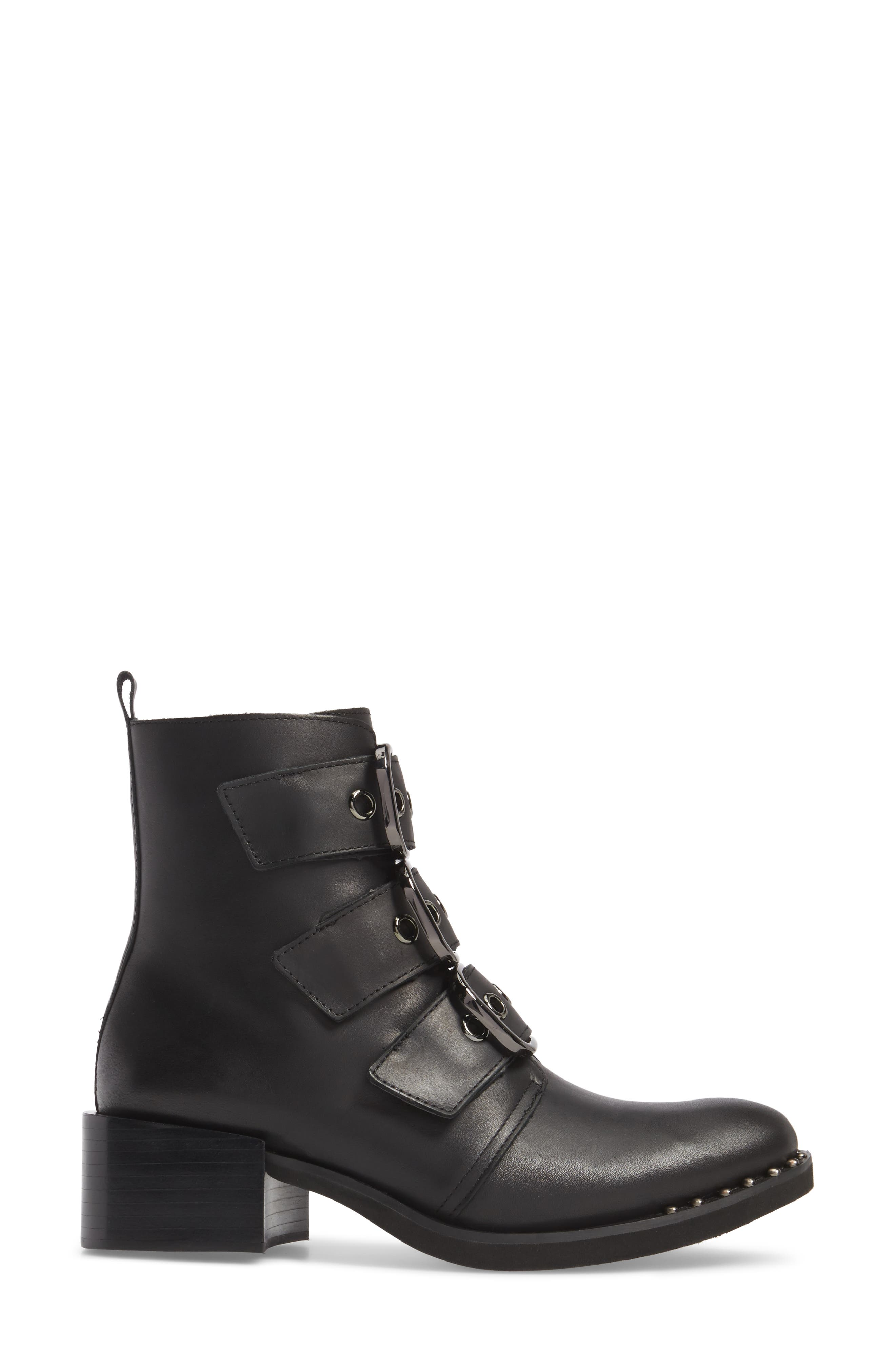 Todd Buckle Strap Bootie,                             Alternate thumbnail 3, color,                             001