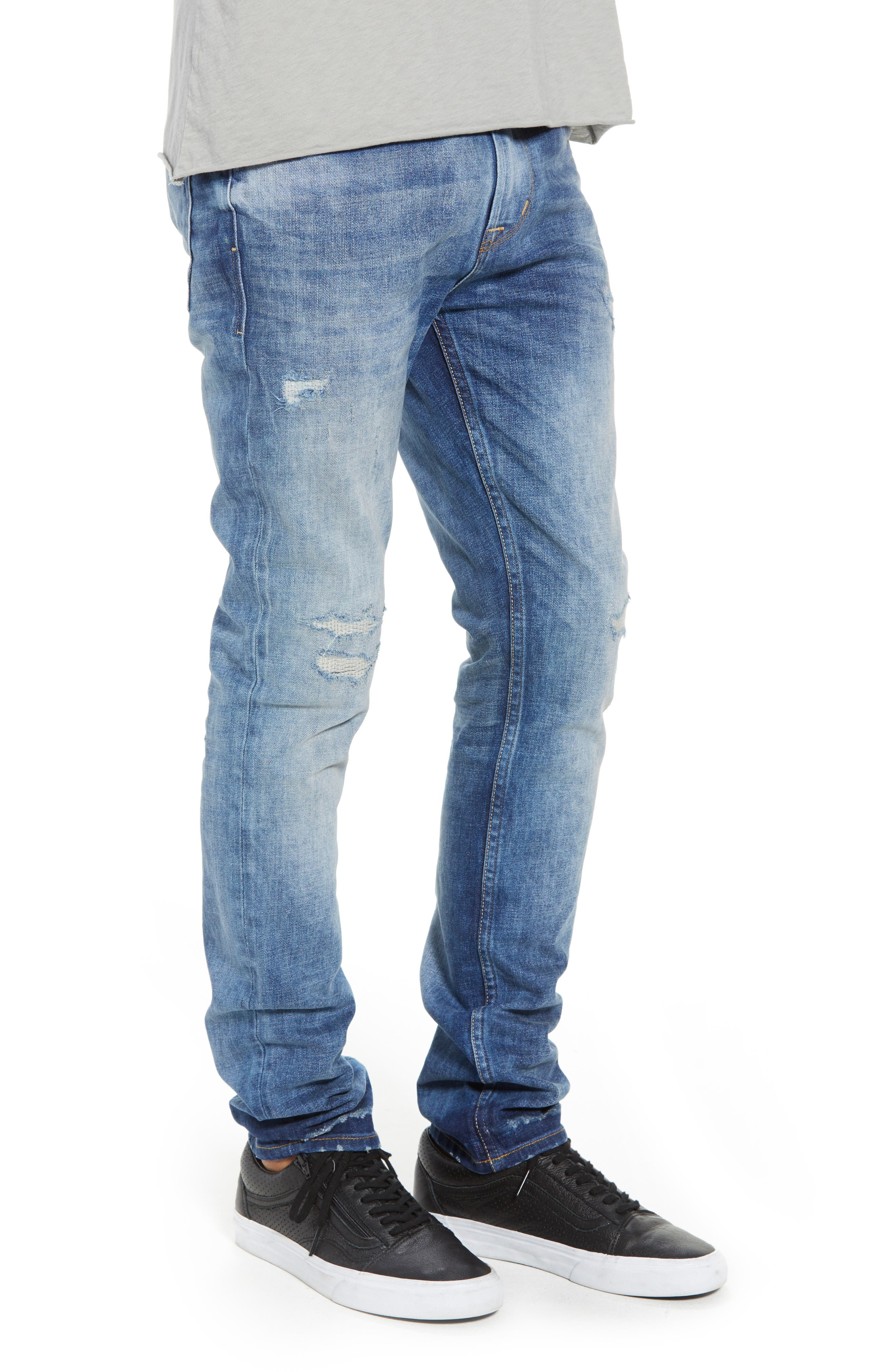 Axl Skinny Fit Jeans,                             Alternate thumbnail 3, color,                             RIDE OUT