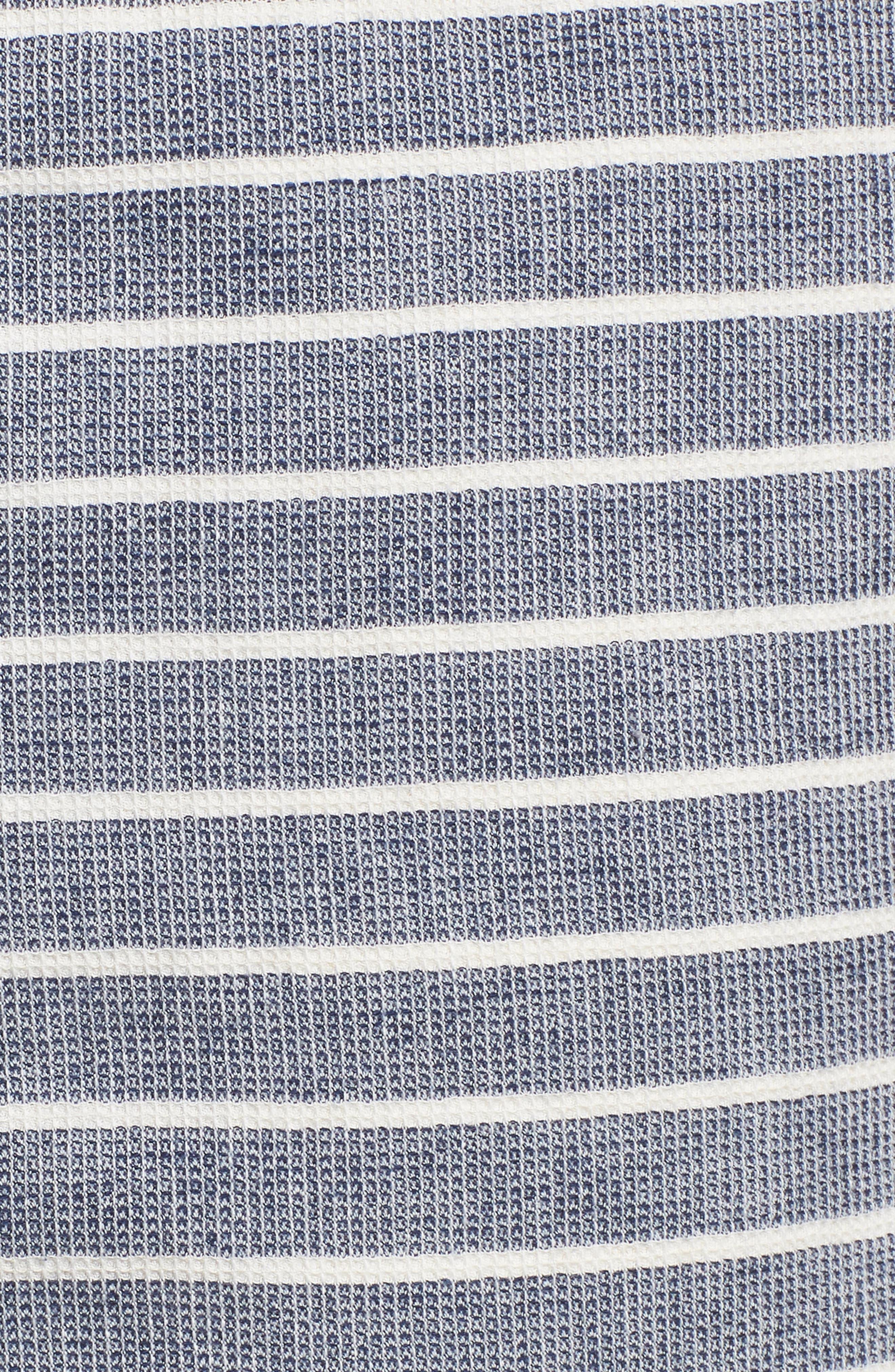 Steve Stripe Pull-On Shorts,                             Alternate thumbnail 5, color,                             BLUE / WHITE