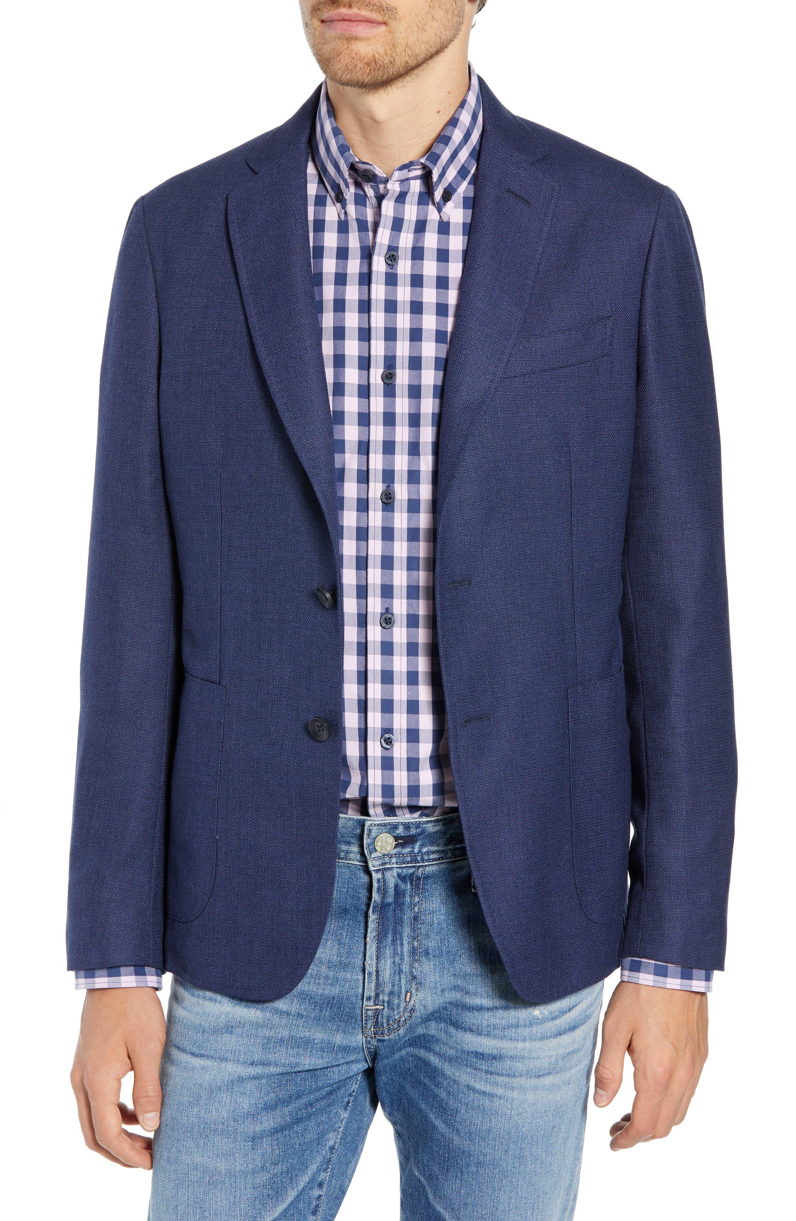 Extra Trim Fit Wool Sport Coat,                             Main thumbnail 1, color,                             BLUE