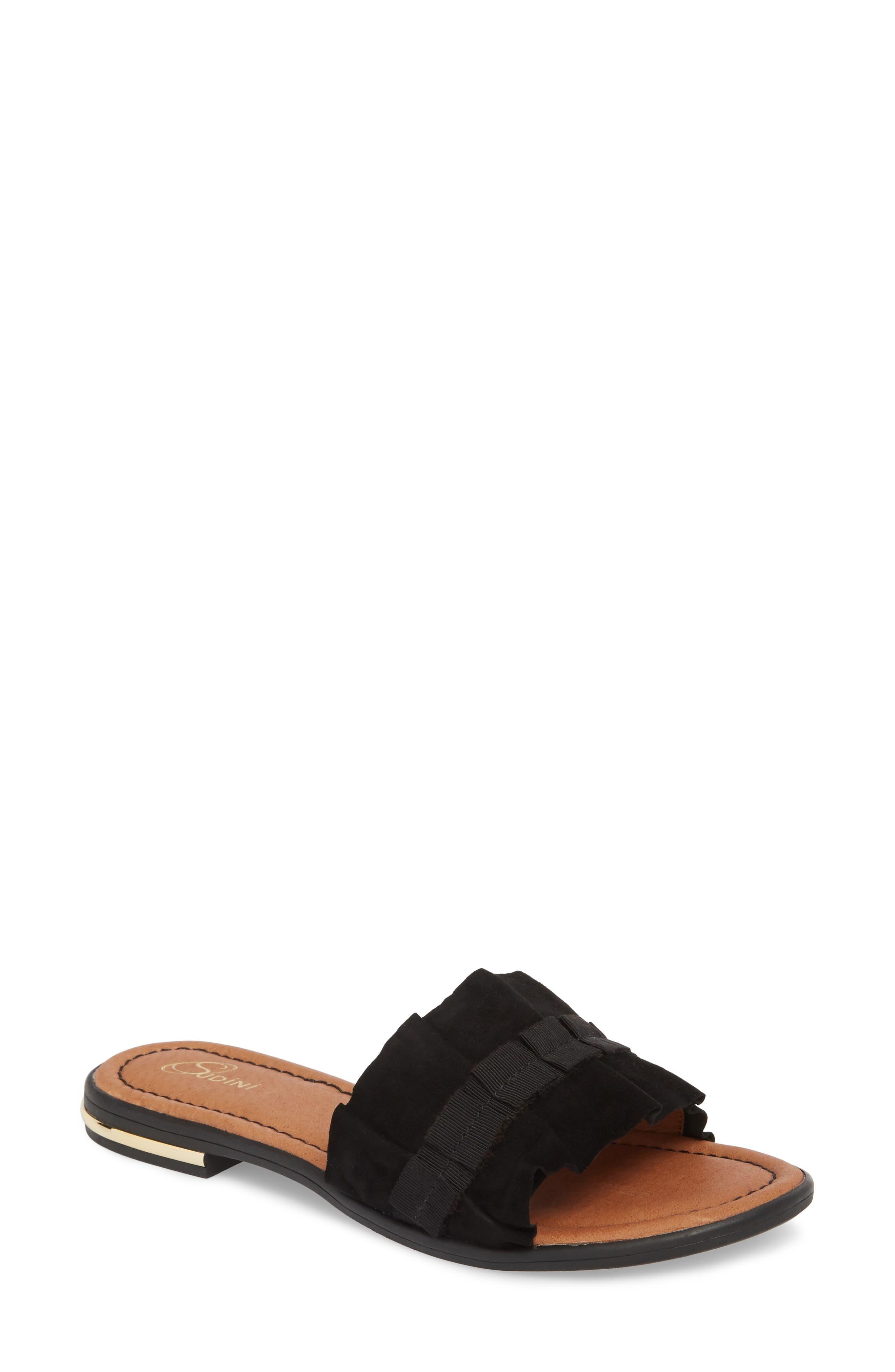 Sudini Ravenna Slide Sandal- Black