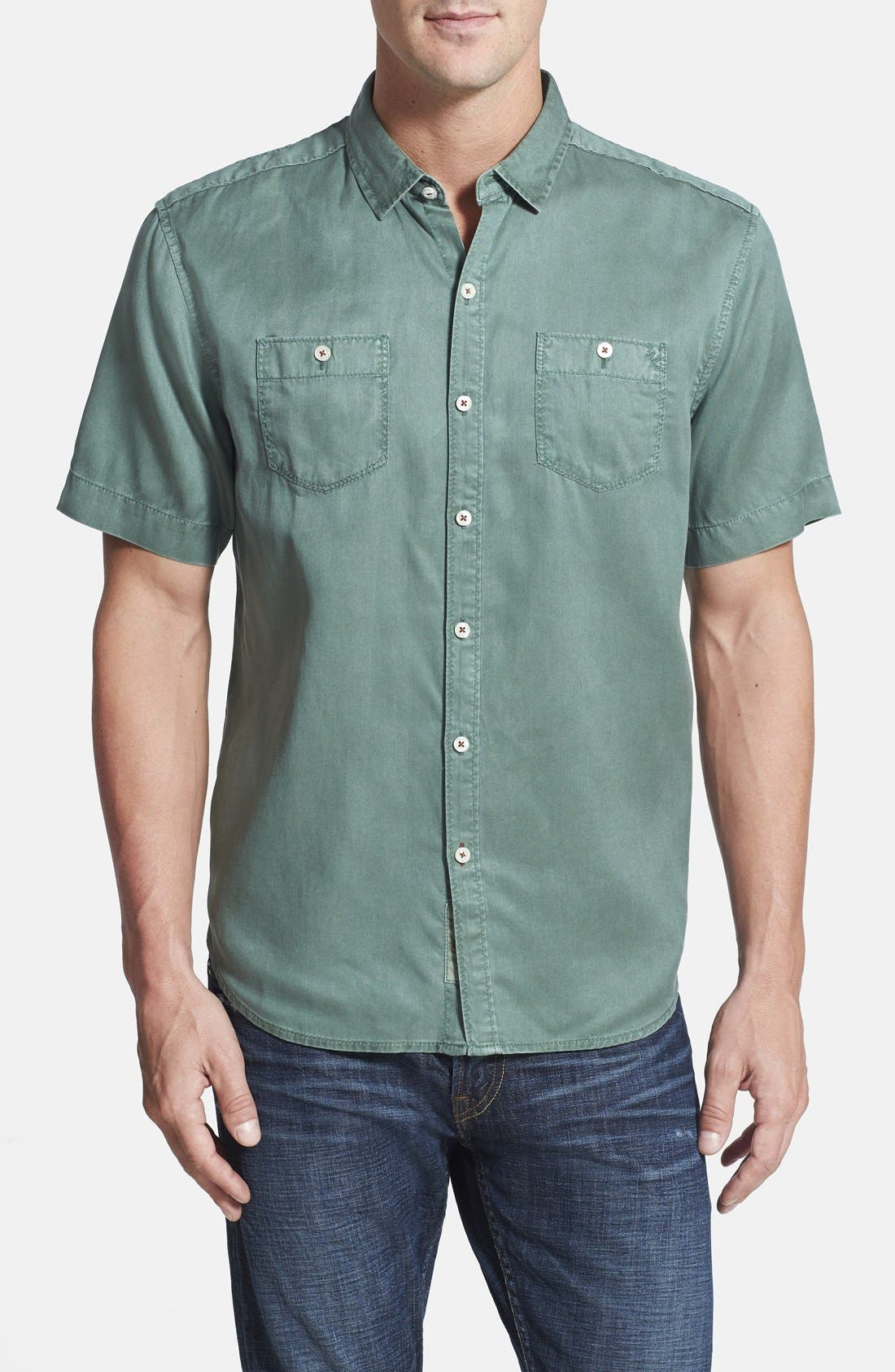 'New Twilly' Island Modern Fit Short Sleeve Twill Shirt,                             Main thumbnail 6, color,