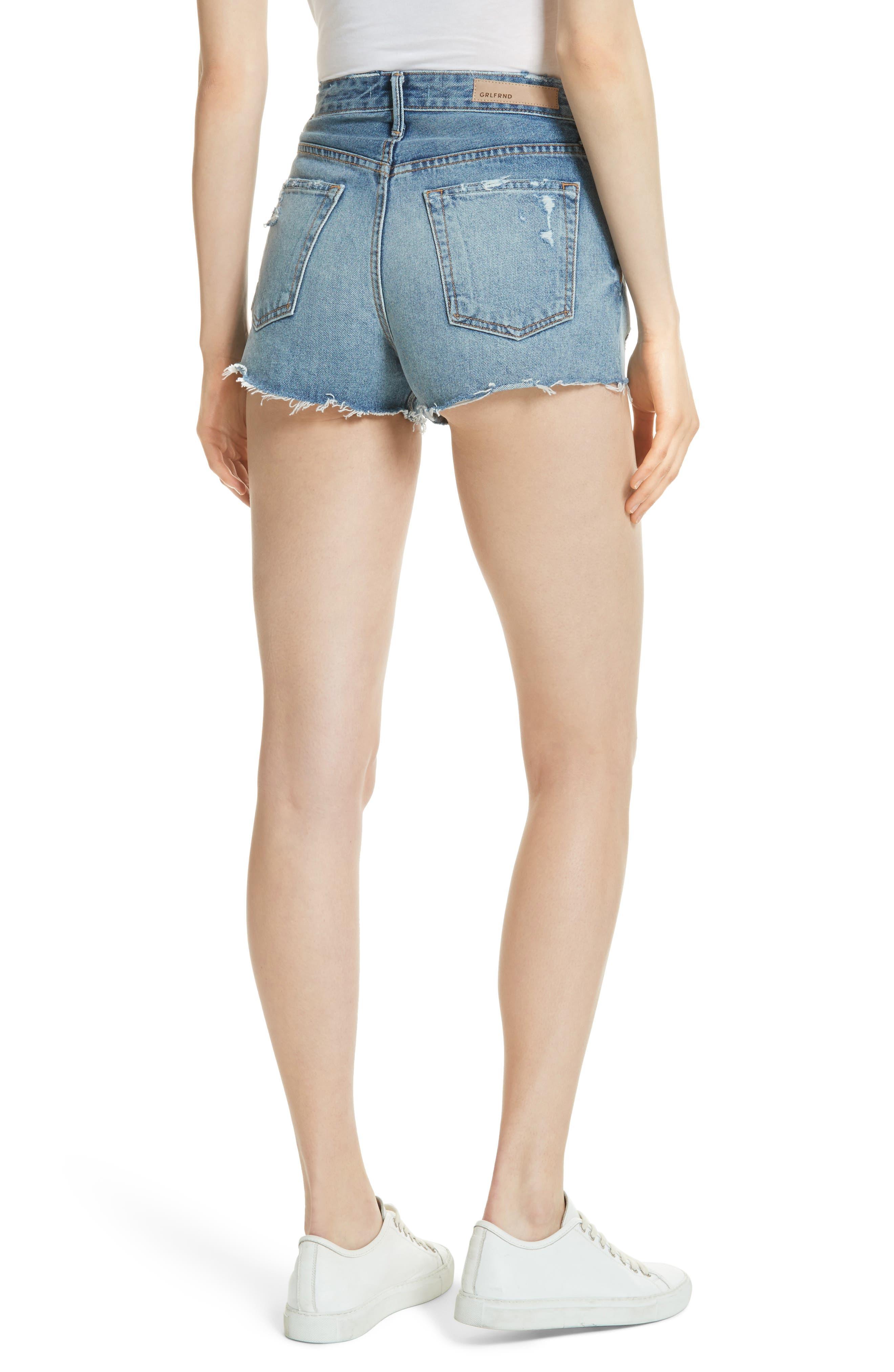 Cindy Rigid High Waist Denim Shorts,                             Alternate thumbnail 2, color,                             473