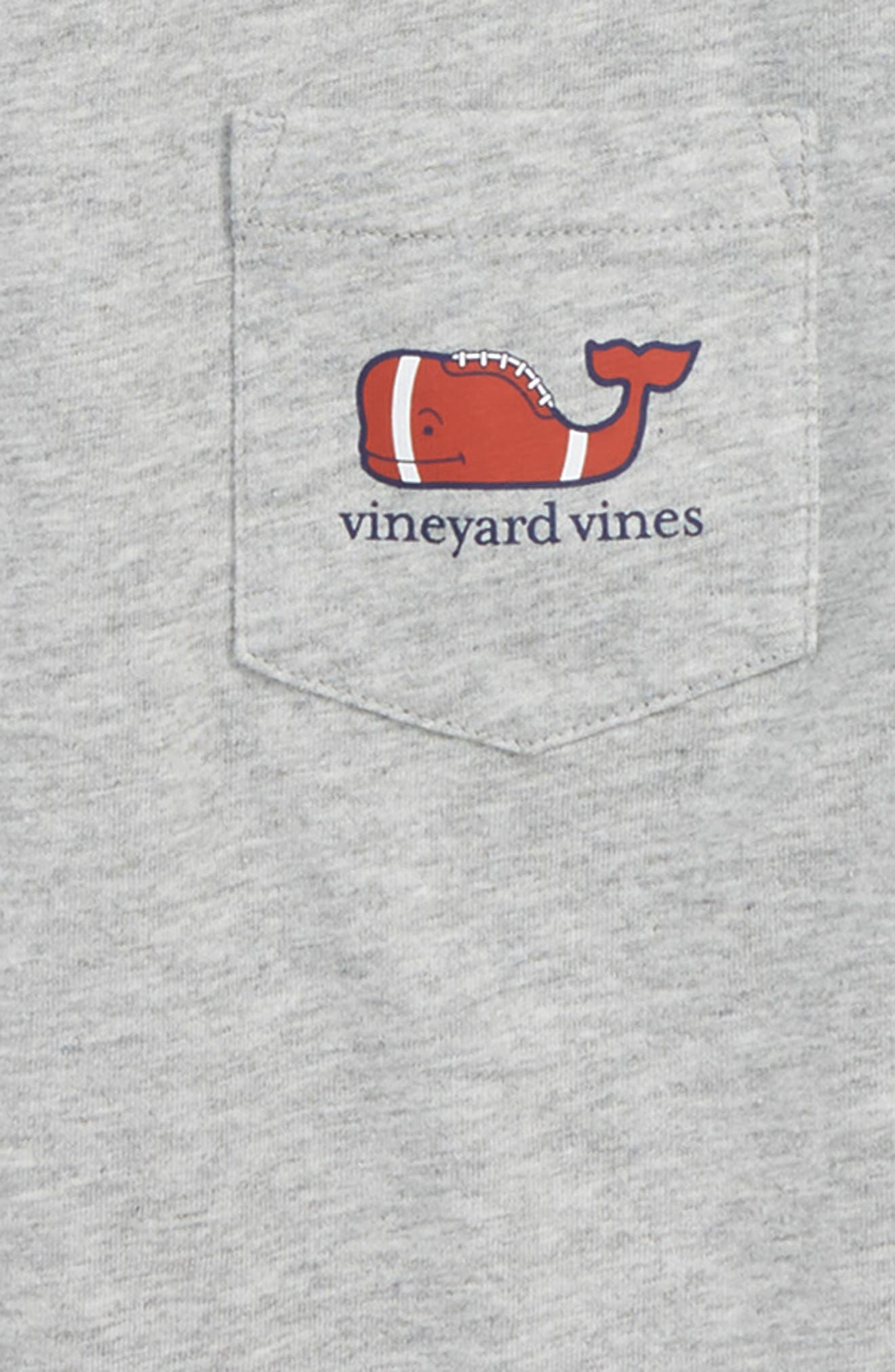 Heathered Football Whale Pocket T-Shirt,                             Alternate thumbnail 3, color,                             GRAY HEATHER