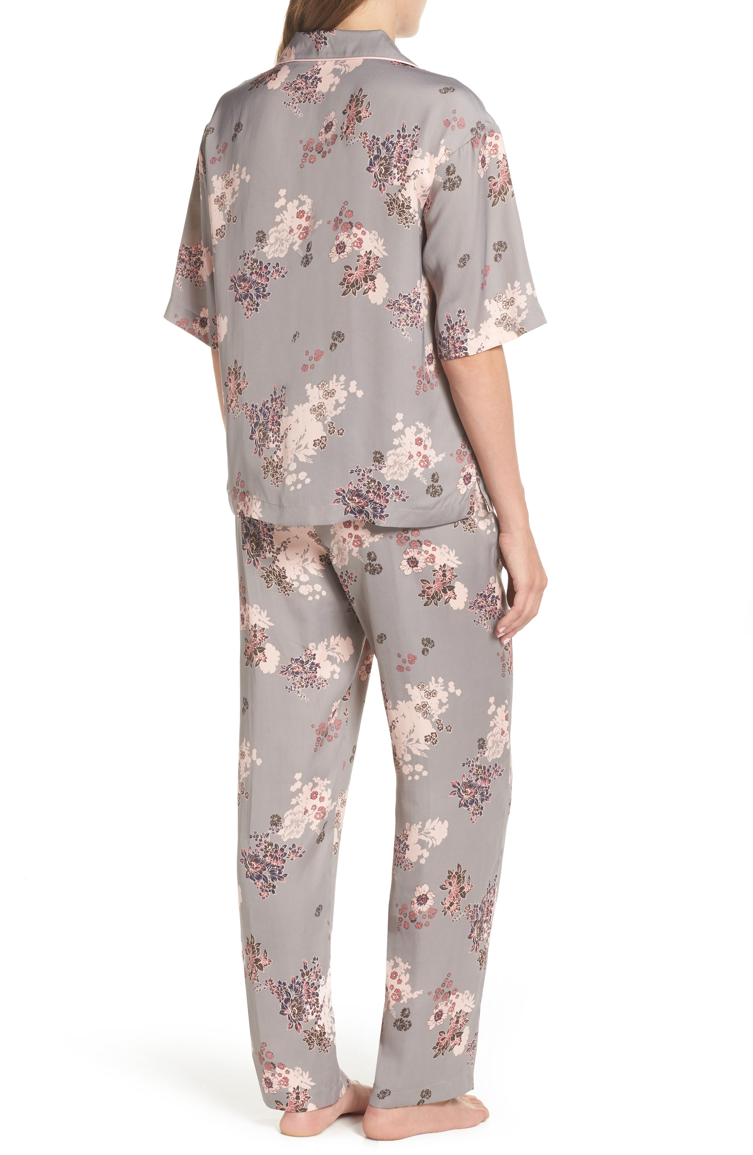 NORDSTROM LINGERIE,                             Matte Satin Pajamas,                             Alternate thumbnail 2, color,                             030