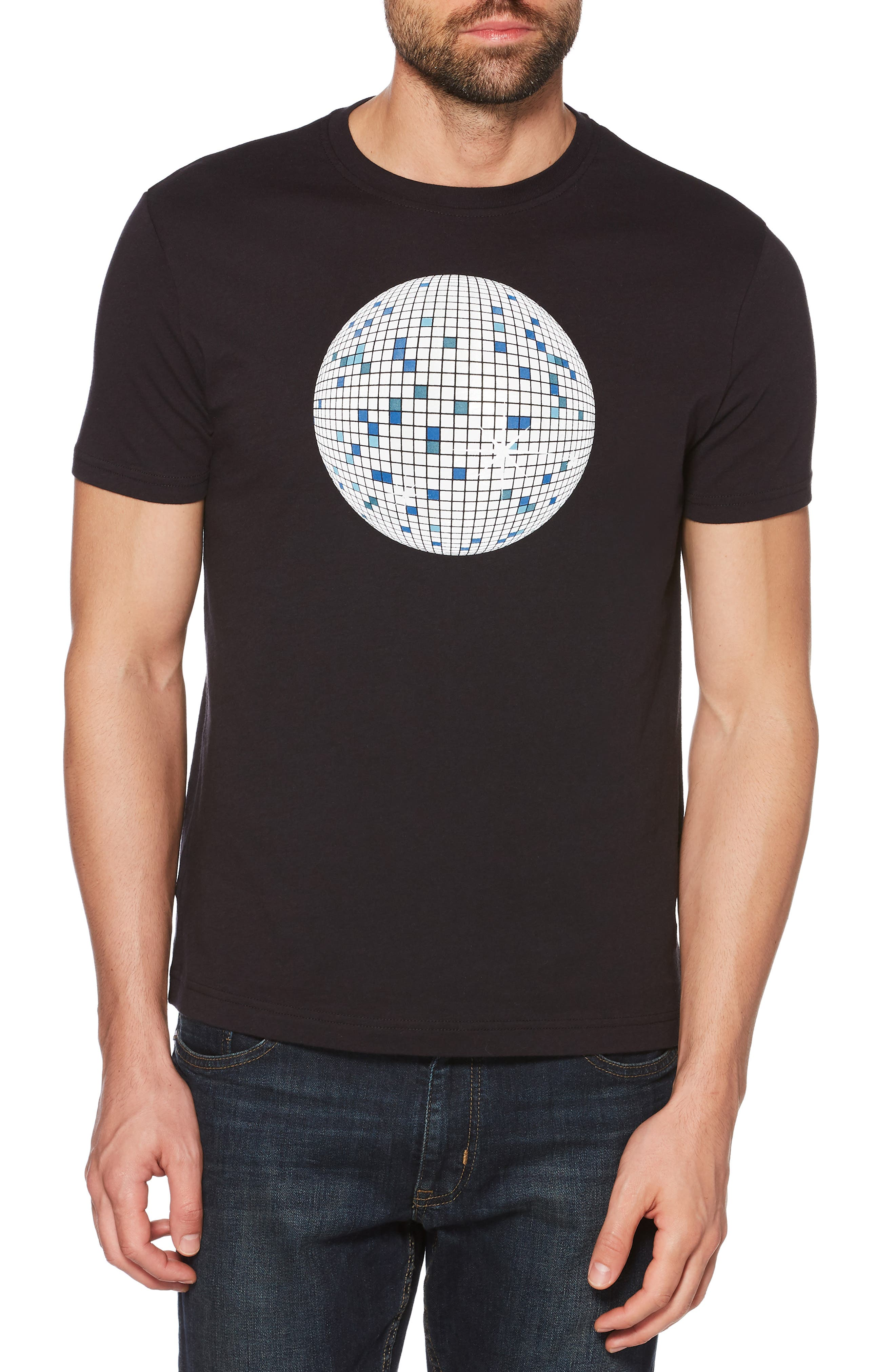 Glow in the Dark Disco Ball T-Shirt,                         Main,                         color, 010