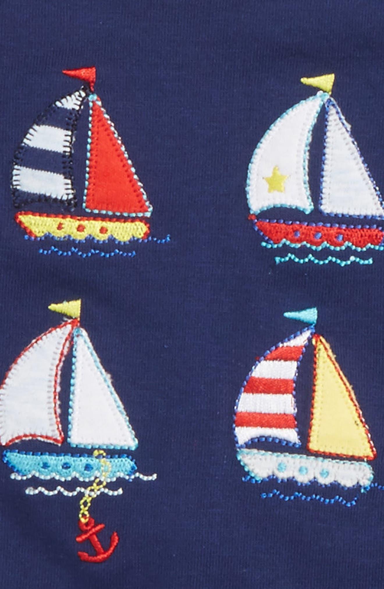 Sailboat T-Shirt, Jogger Pants & Socks Set,                             Alternate thumbnail 2, color,                             469