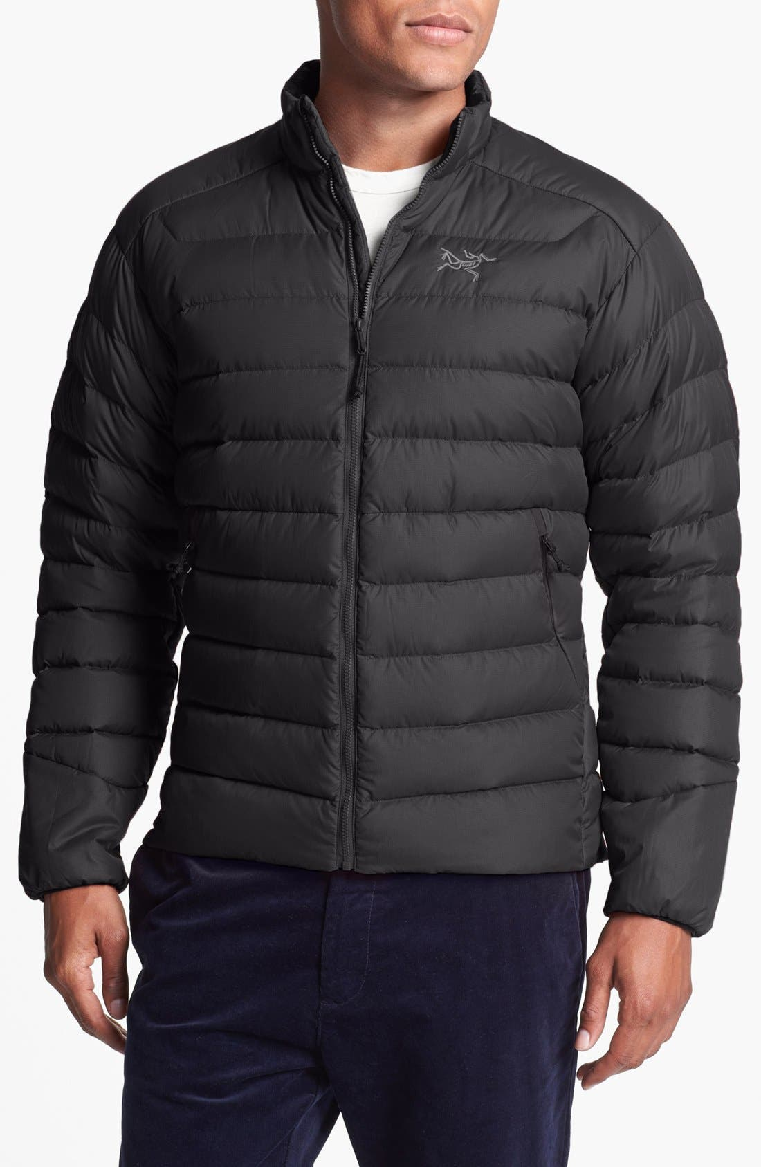 'Thorium AR' Athletic Fit Down Jacket, Main, color, 001