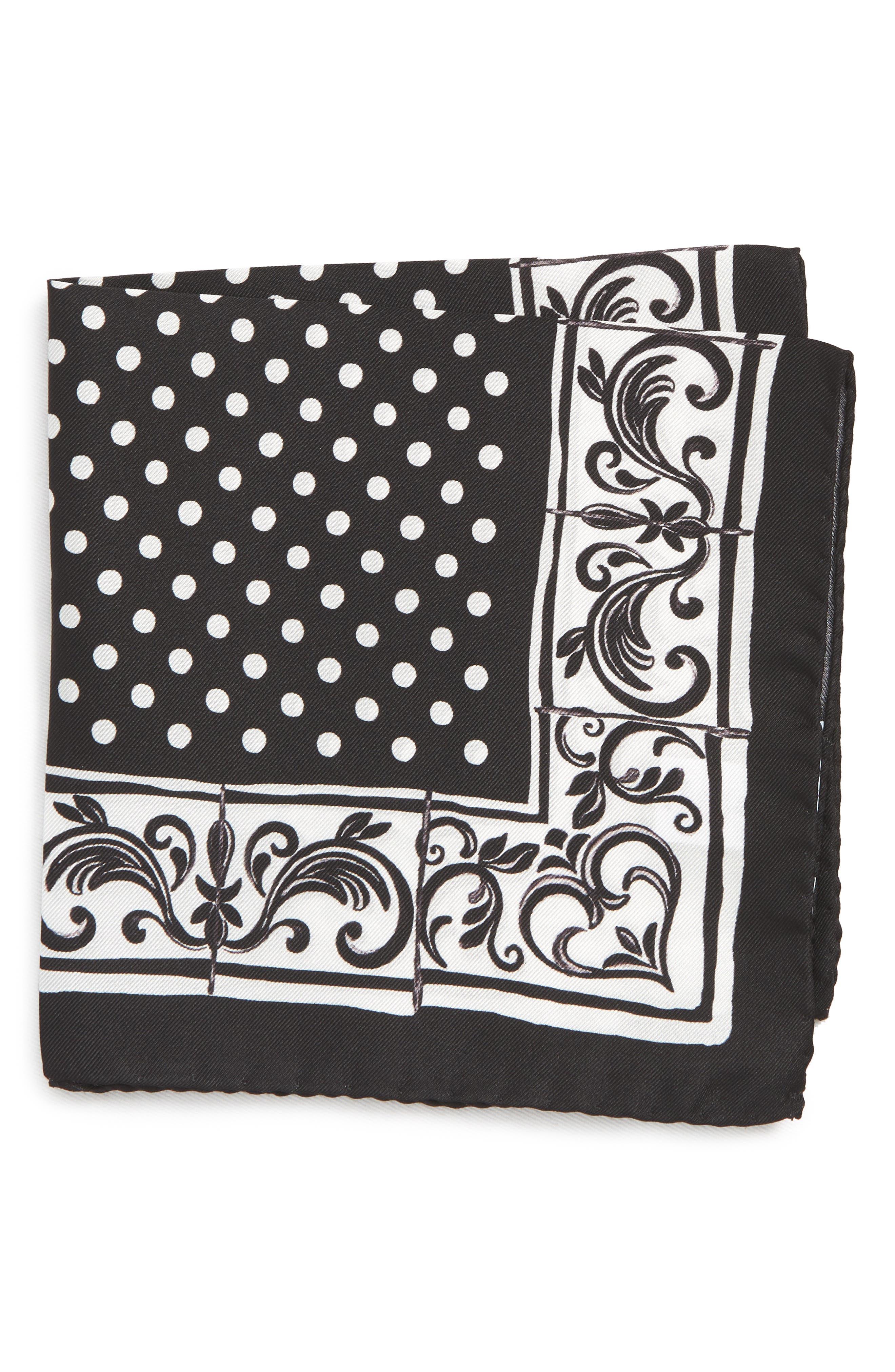 Dot Silk Pocket Square,                         Main,                         color, 400
