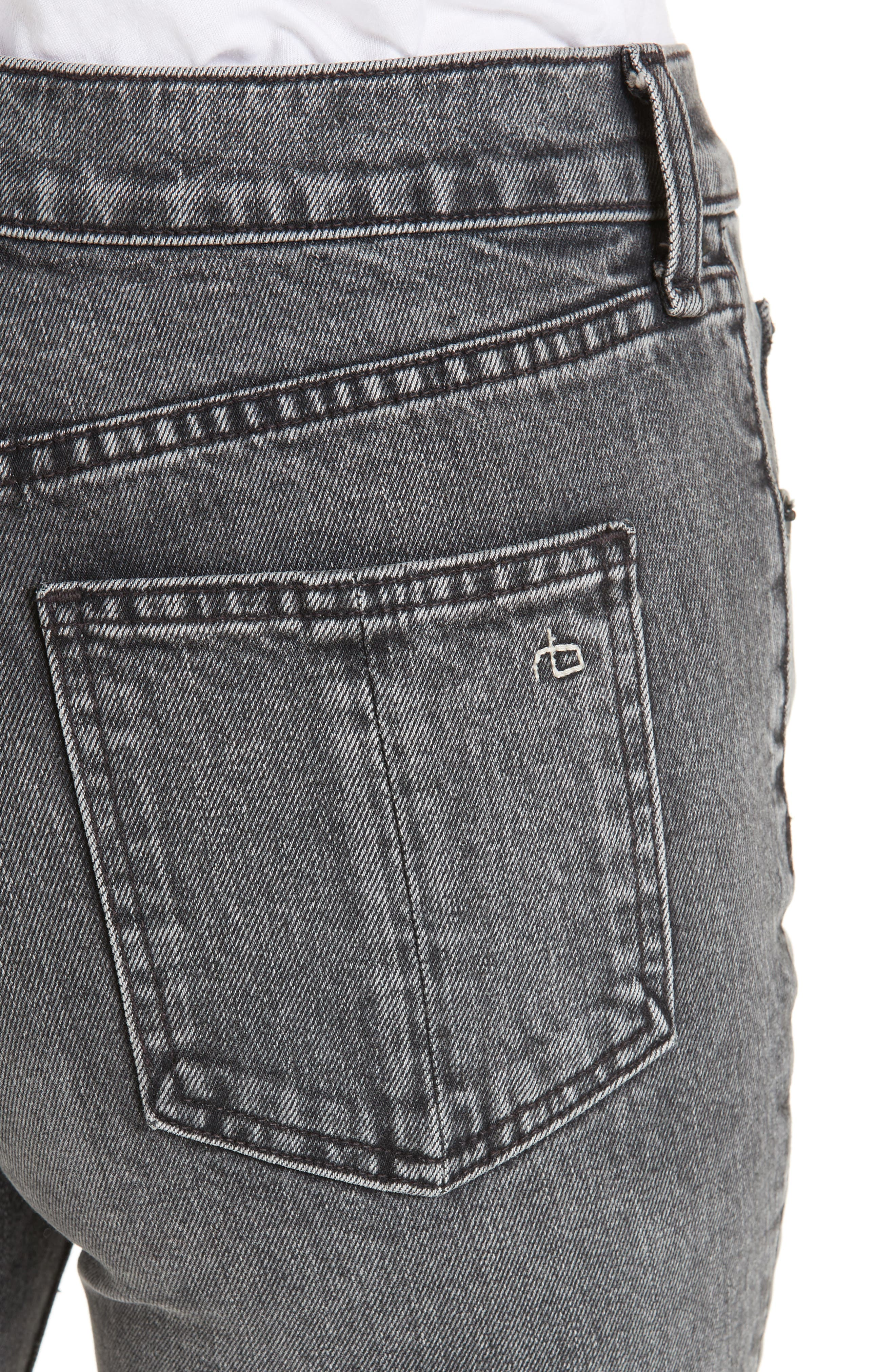 Hana Crop Kick Flare Jeans,                             Alternate thumbnail 4, color,                             010