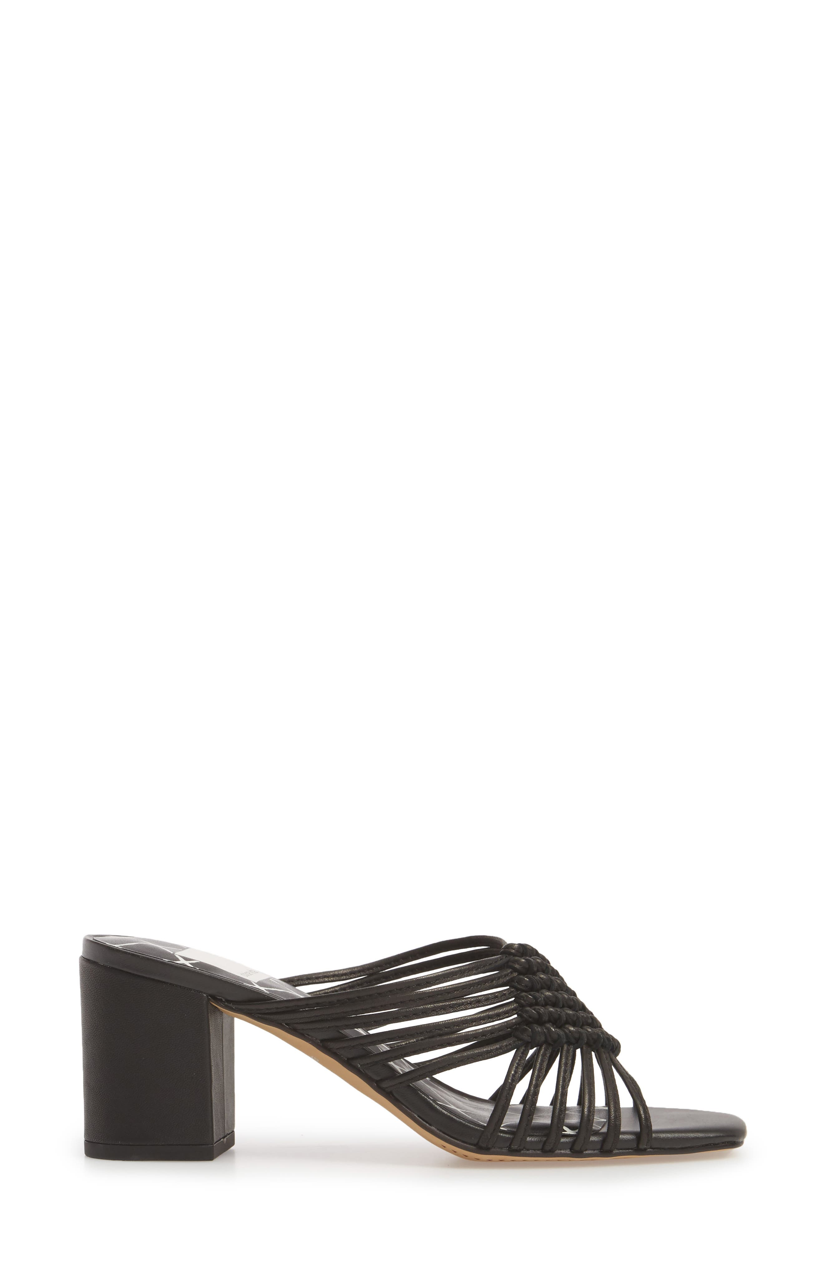 DOLCE VITA,                             Delana Knotted Slide Sandal,                             Alternate thumbnail 3, color,                             001