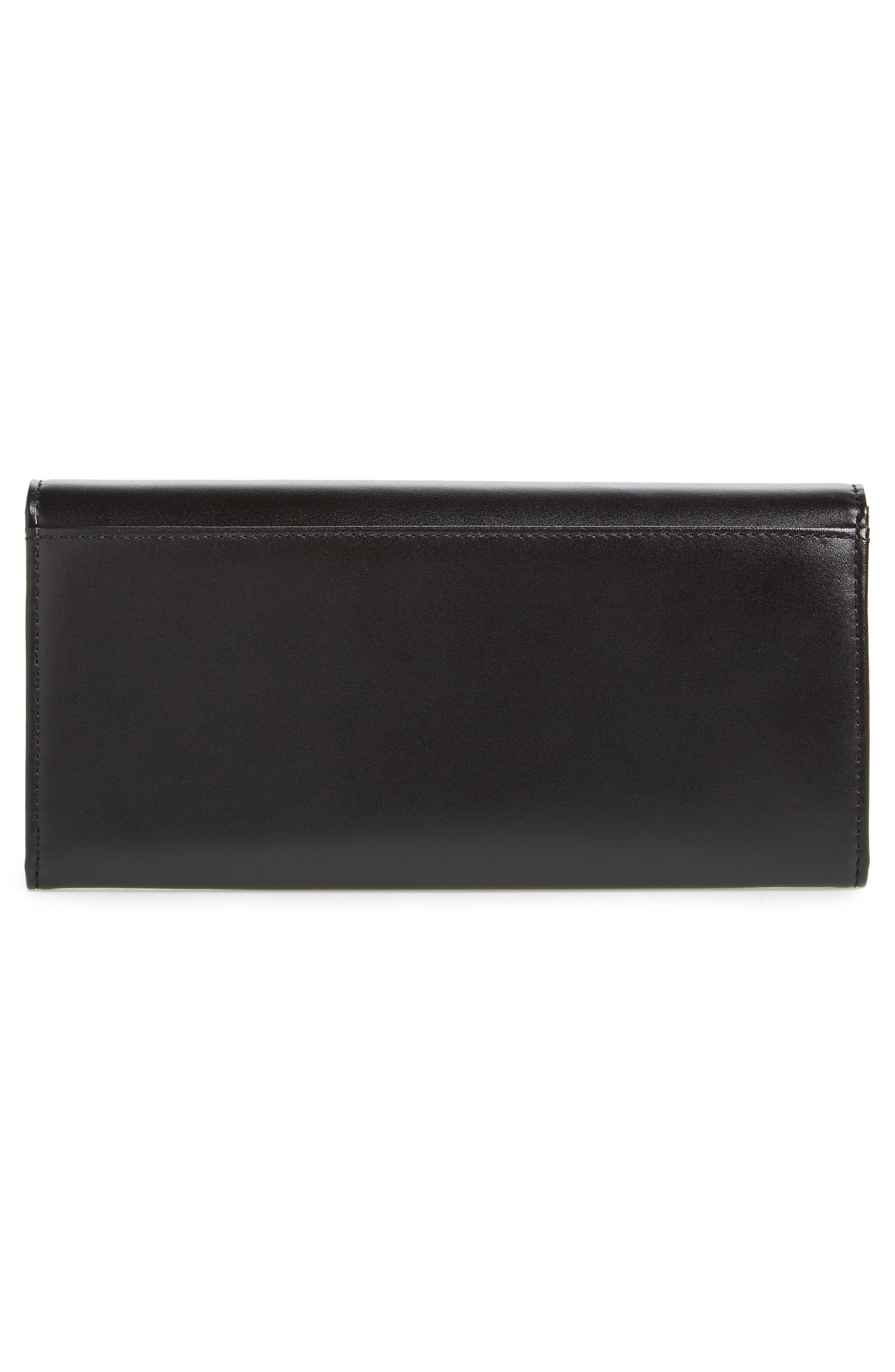 Orica Leather Matinée Clutch,                             Alternate thumbnail 3, color,                             001