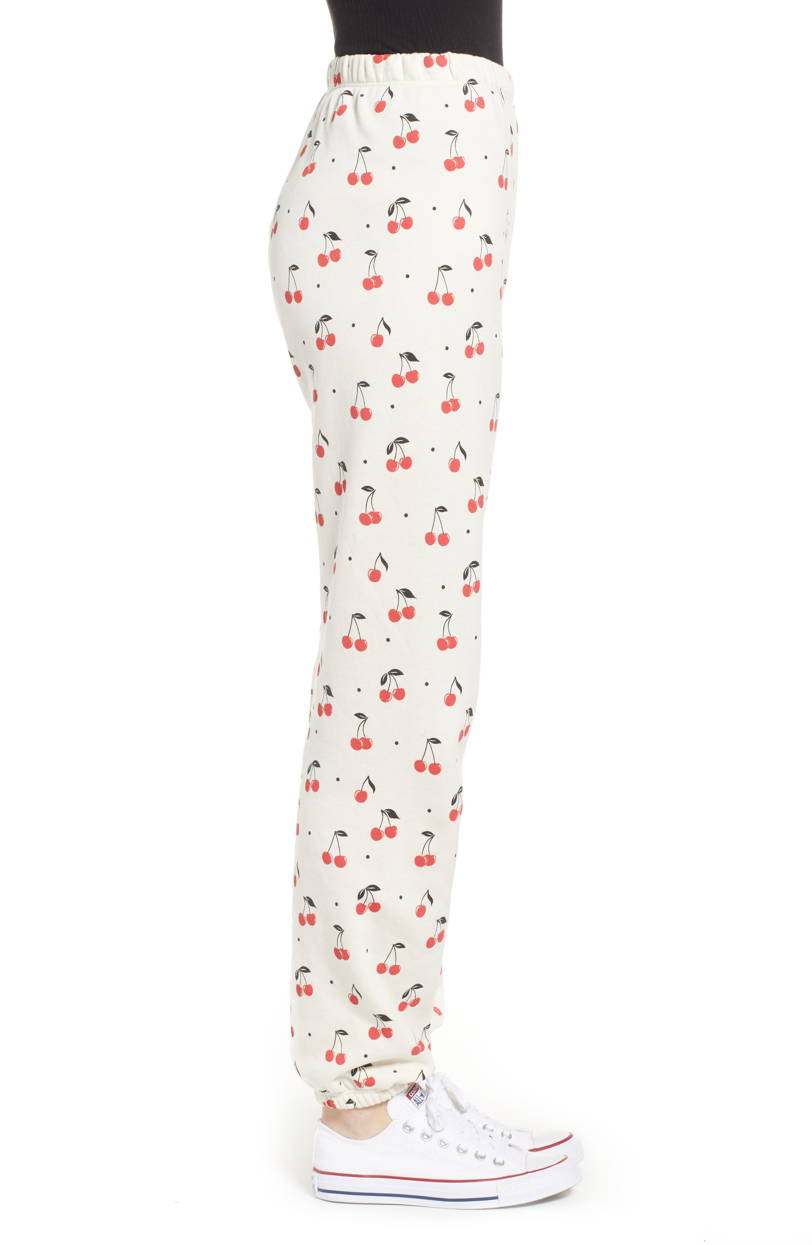 WILDFOX,                             Cherry Oh Baby Easy Sweatpants,                             Alternate thumbnail 3, color,                             VINTAGE LACE