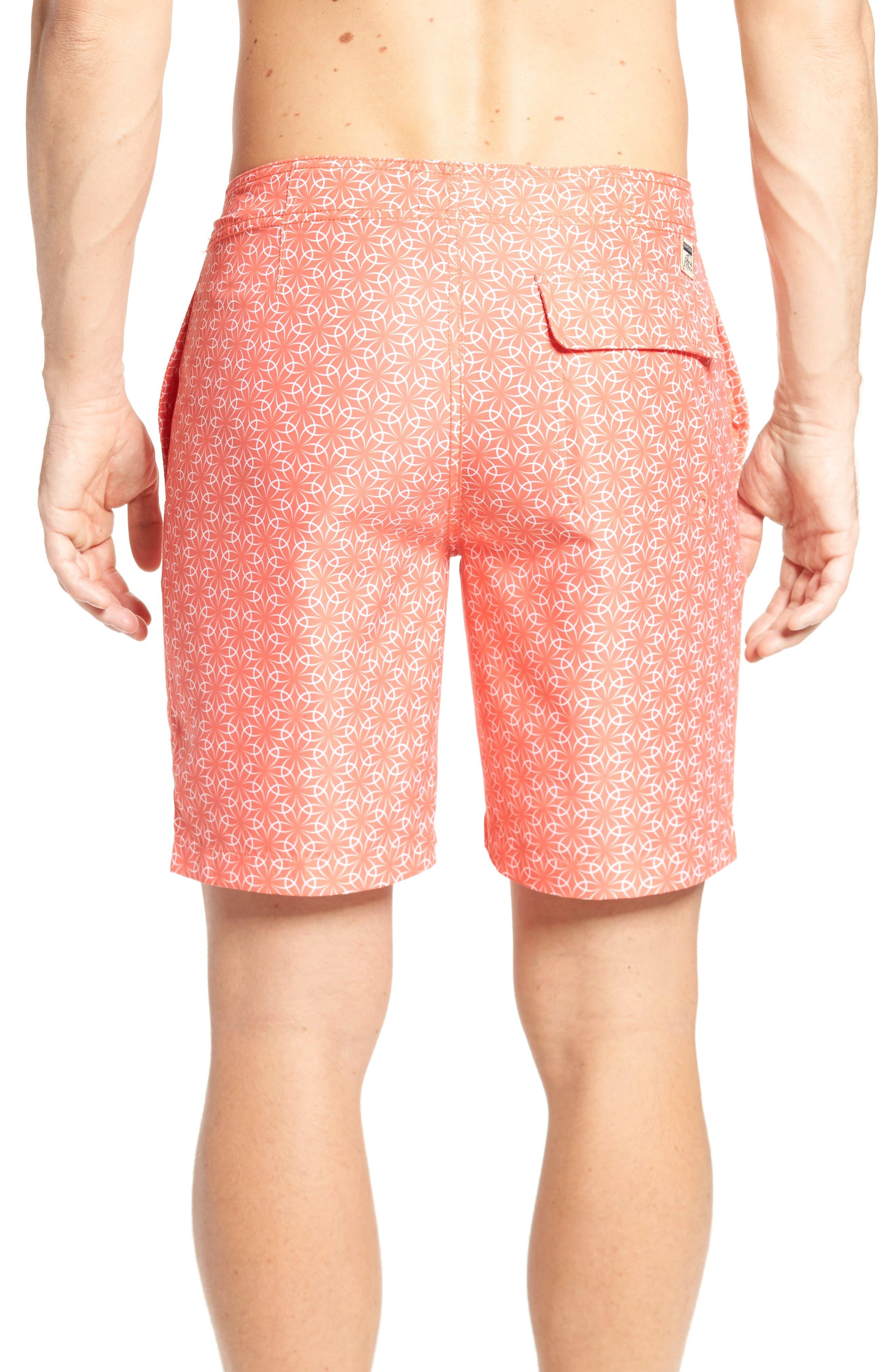 Gradient Flower Board Shorts,                             Alternate thumbnail 2, color,