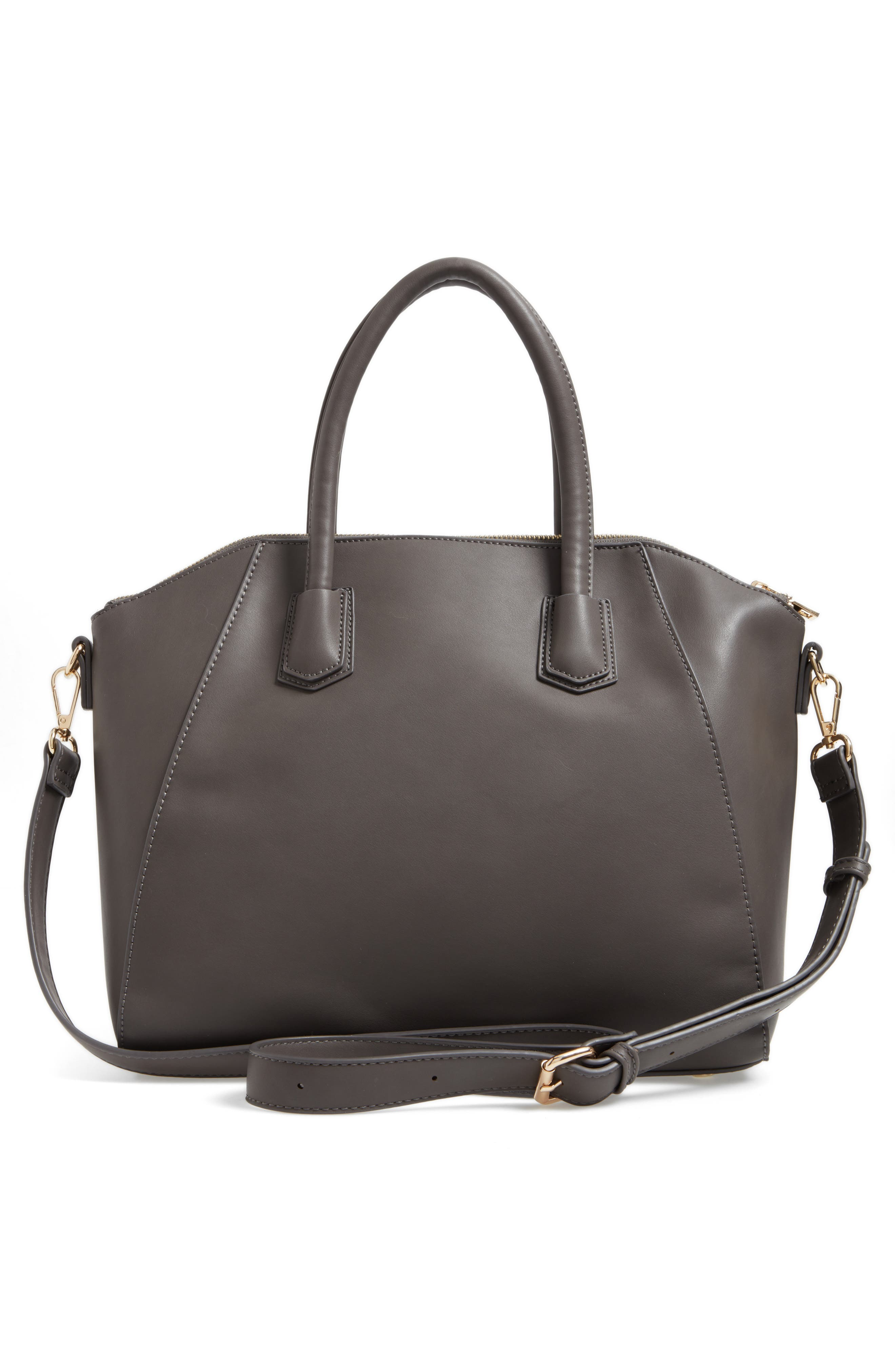 Rosamund Faux Leather and Genuine Suede Satchel,                             Alternate thumbnail 6, color,