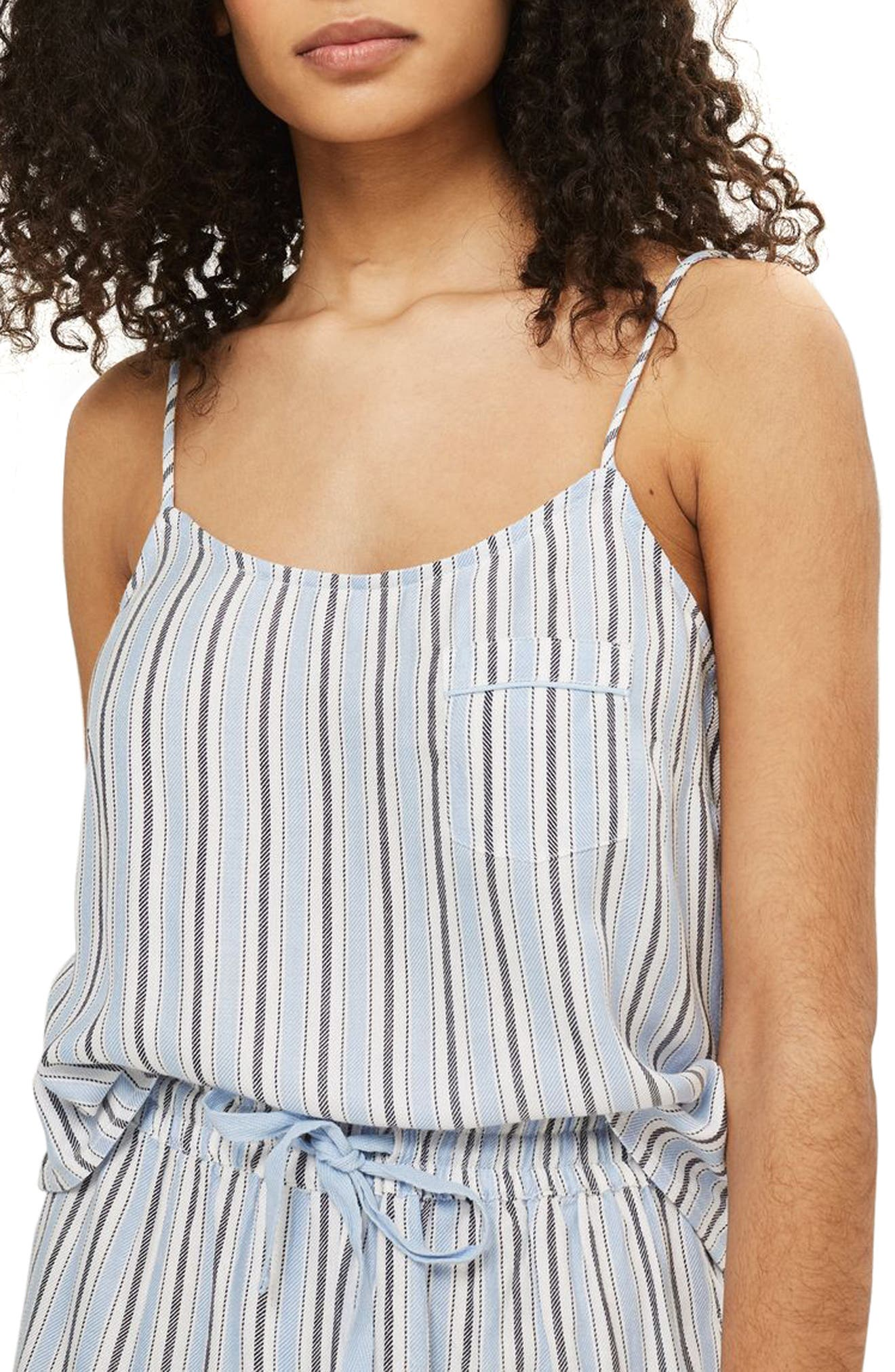 Bobby Stripe Pajama Tank,                         Main,                         color,