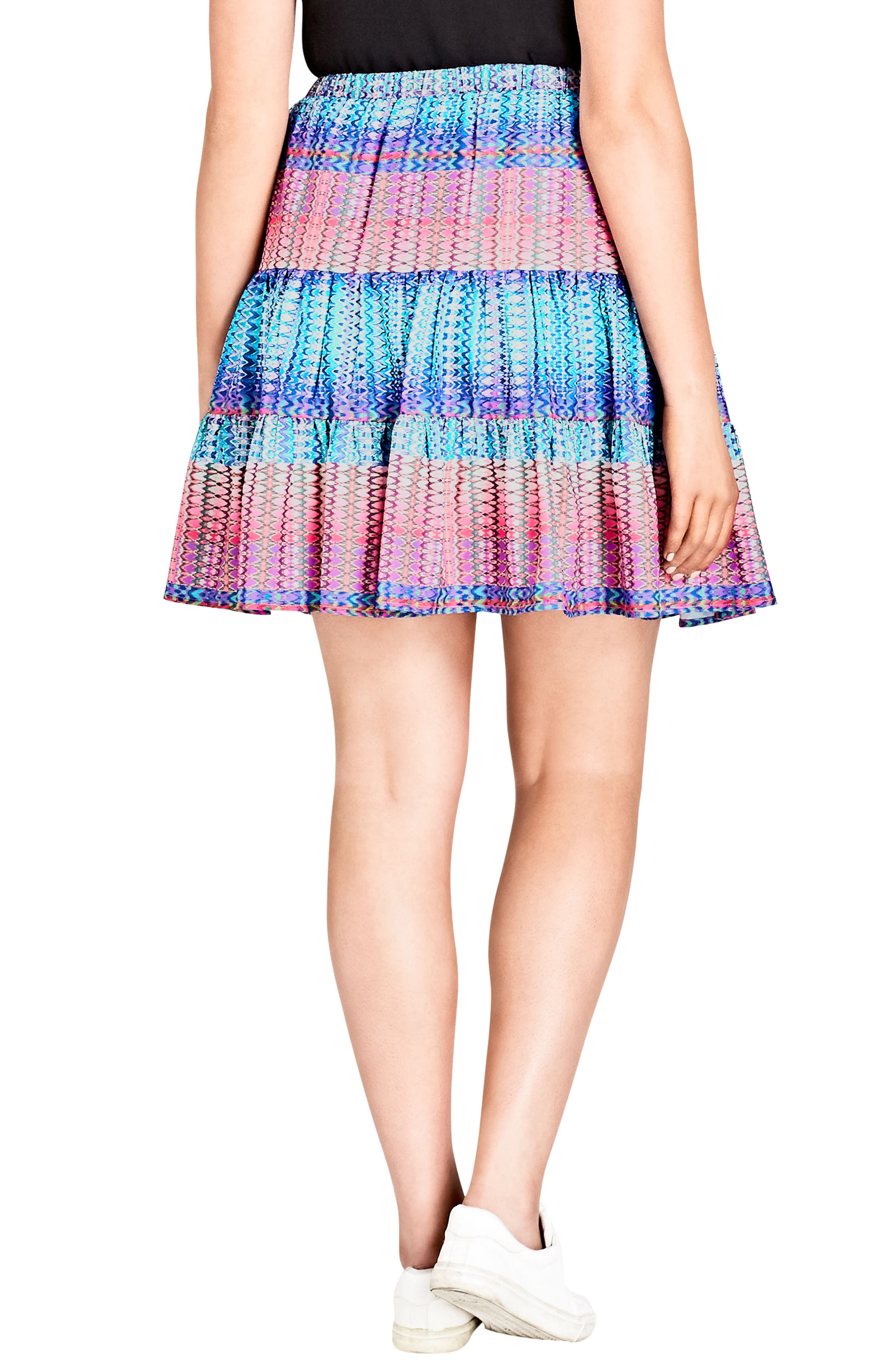Tiered Up Skirt,                             Alternate thumbnail 2, color,                             KALEIDOSCOPE