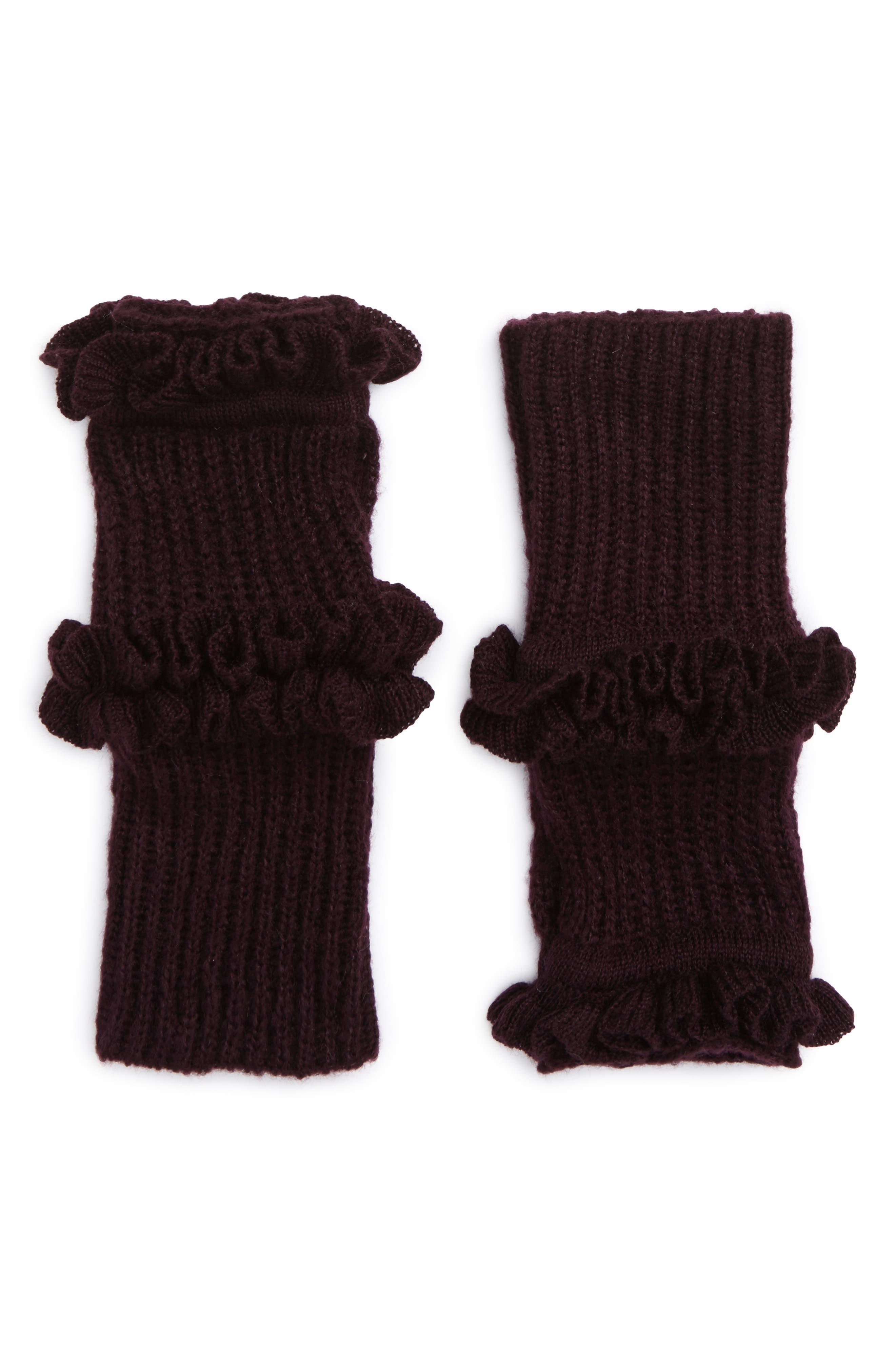 Ruffle Fingerless Gloves,                             Main thumbnail 3, color,