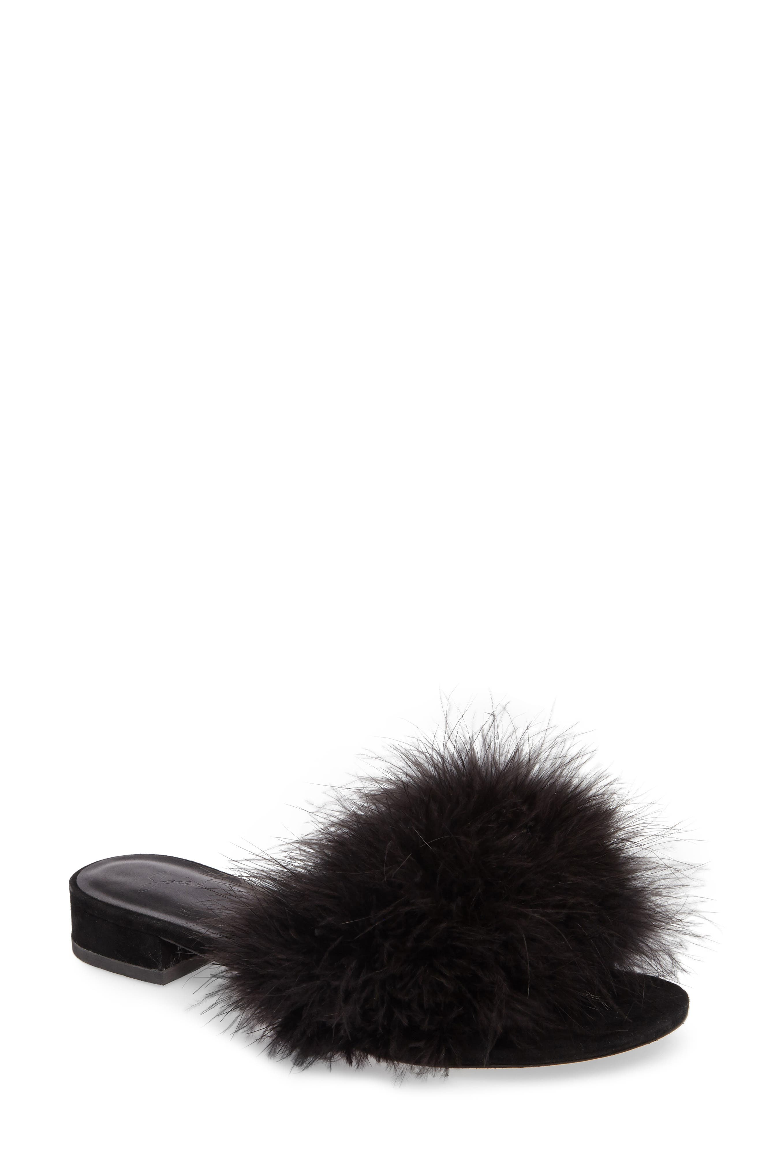 Mani Feather Slide Sandal,                         Main,                         color,