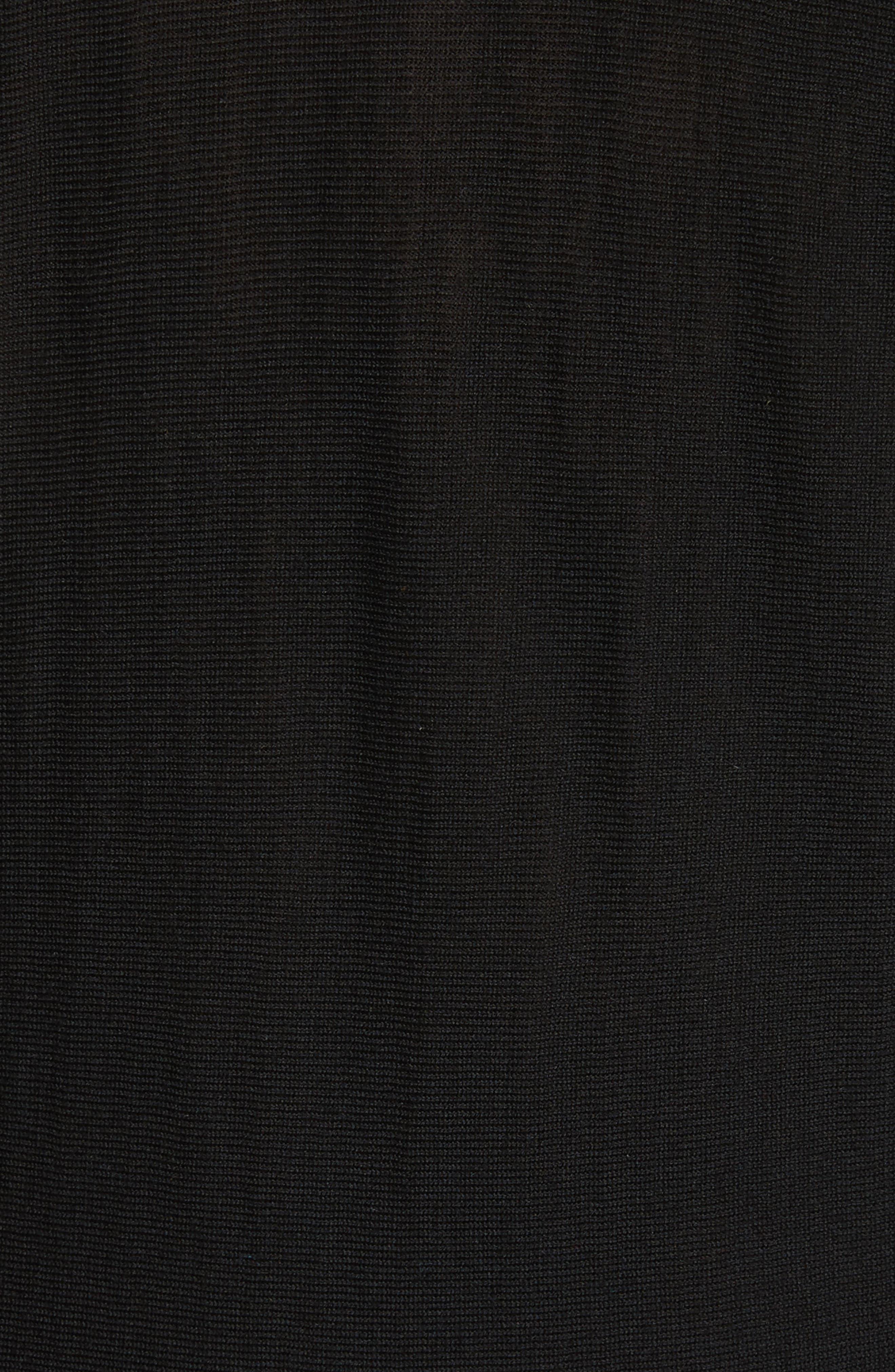 Merino Wool Blend Dolman Sweater,                             Alternate thumbnail 5, color,                             001