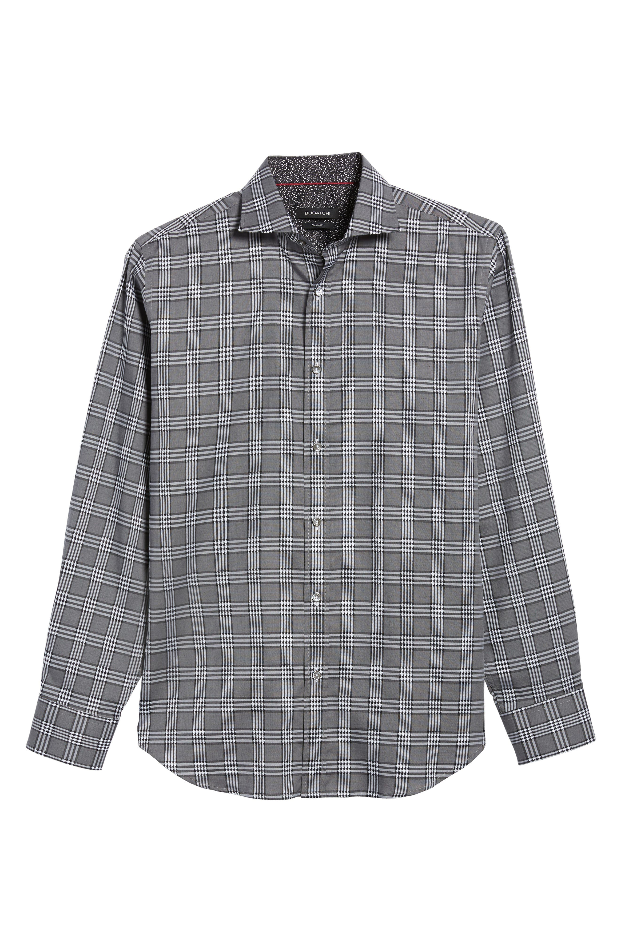 Classic Fit Plaid Sport Shirt,                             Alternate thumbnail 6, color,
