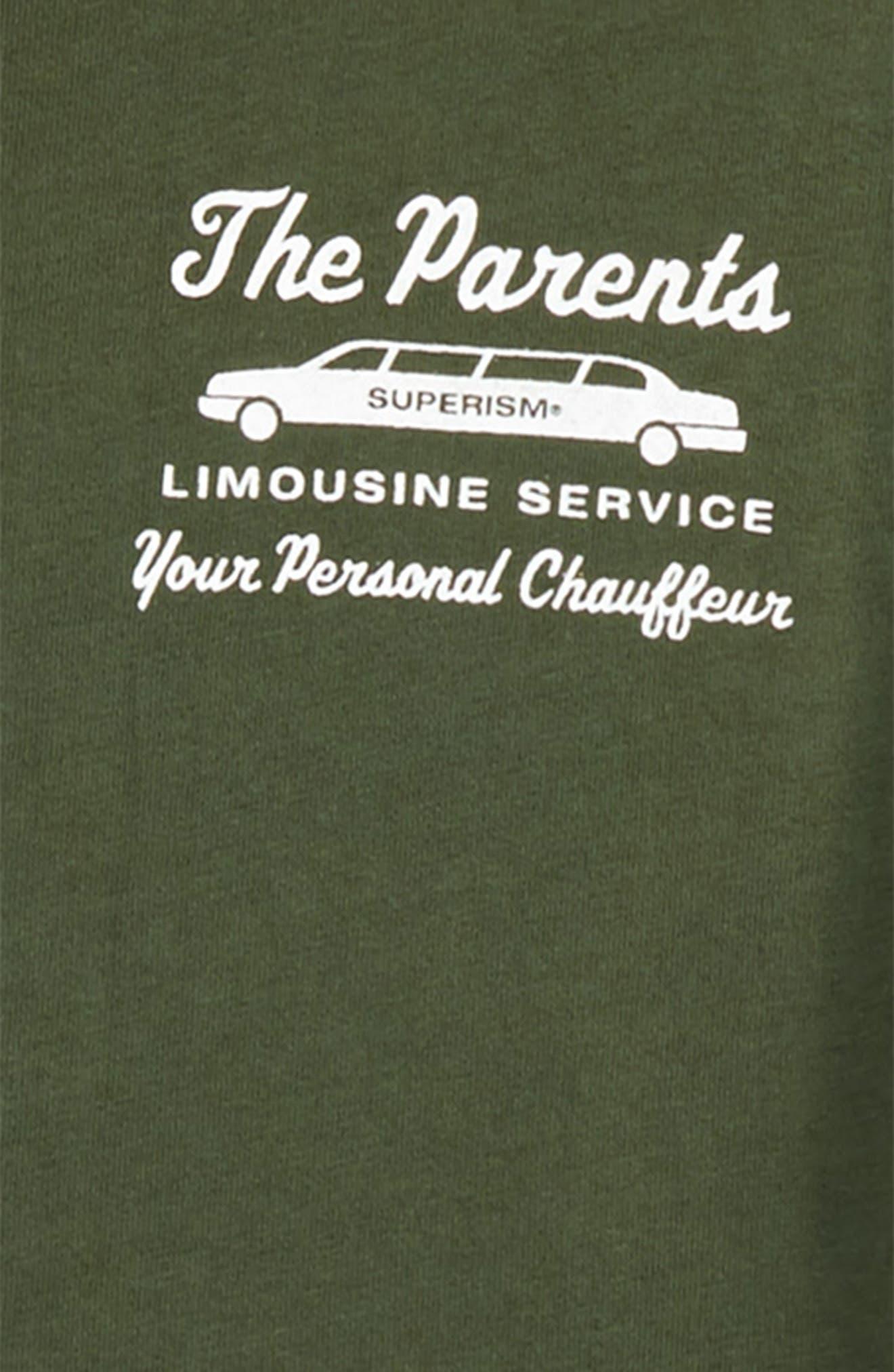 The Parents Limousine Service T-Shirt,                             Alternate thumbnail 3, color,                             300