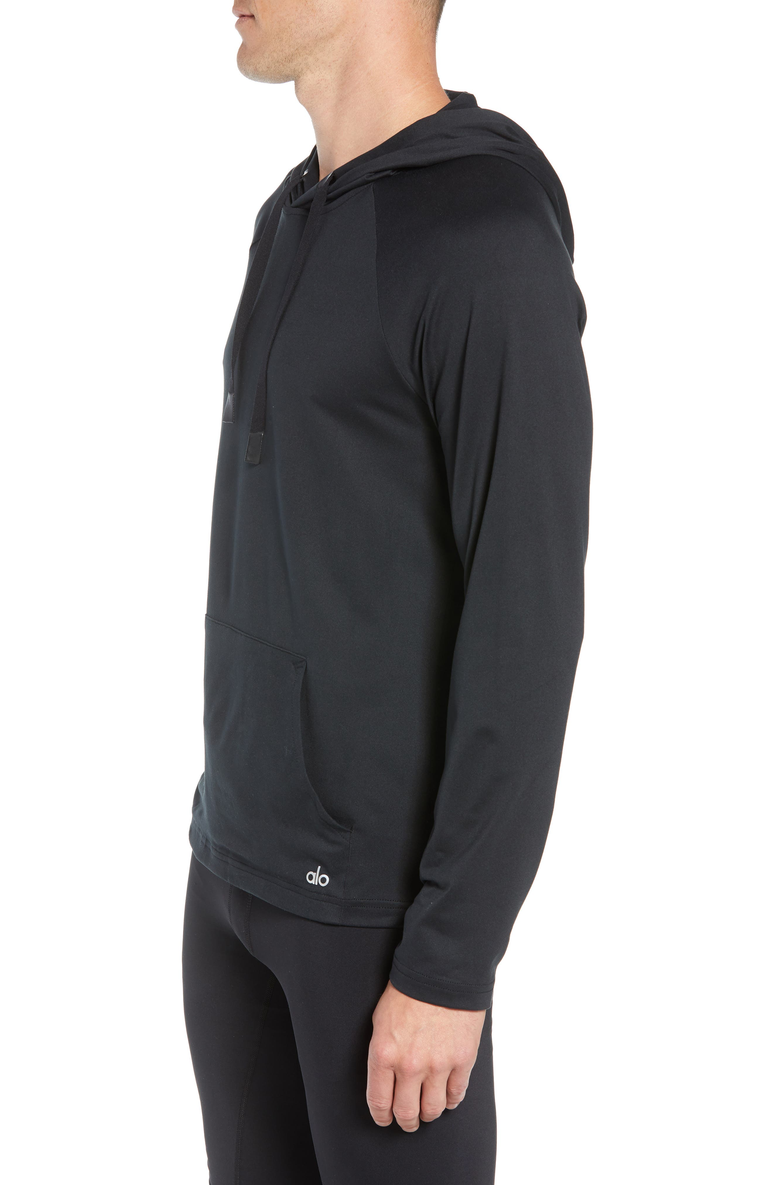 Conquer Hoodie,                             Alternate thumbnail 3, color,                             BLACK SOLID