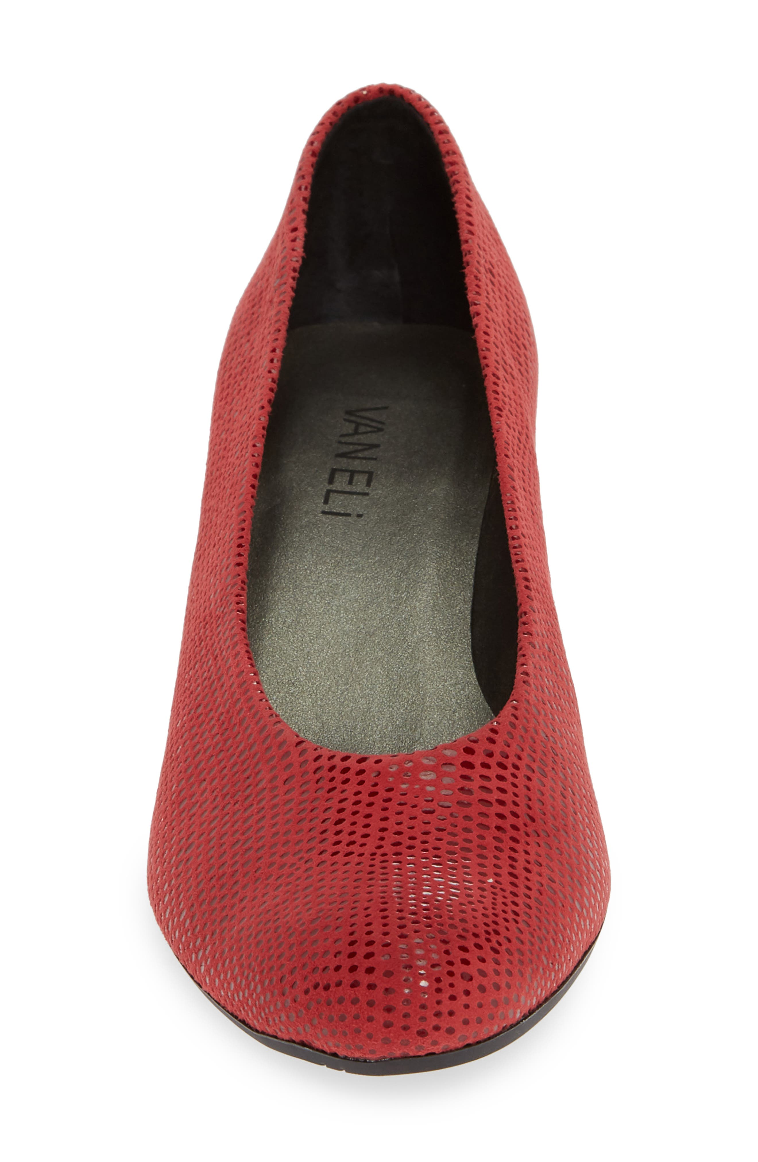 'Dayle' Pump,                             Alternate thumbnail 4, color,                             RED LEATHER