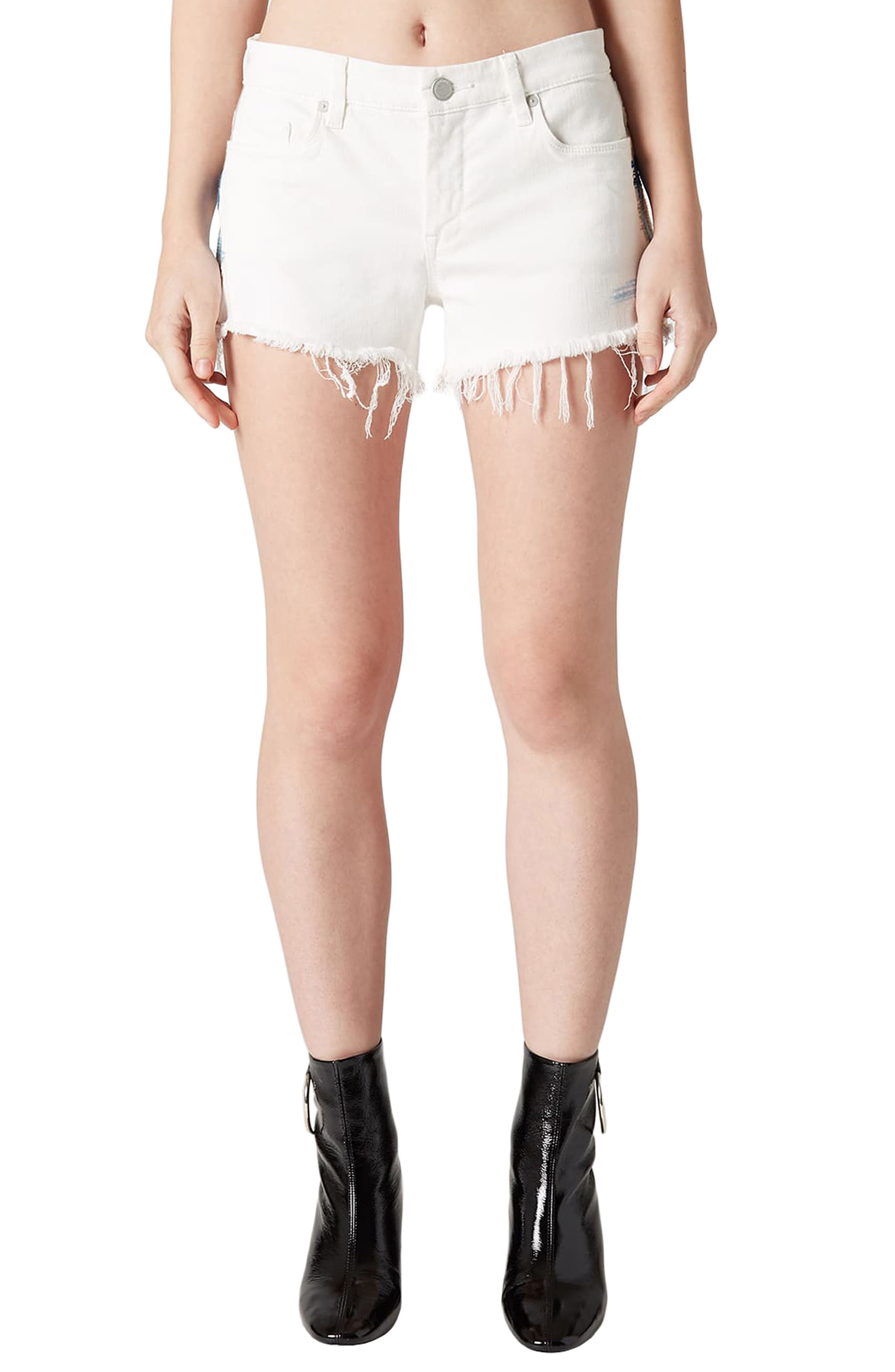 Best Coast Embroidered Denim Shorts,                             Main thumbnail 1, color,