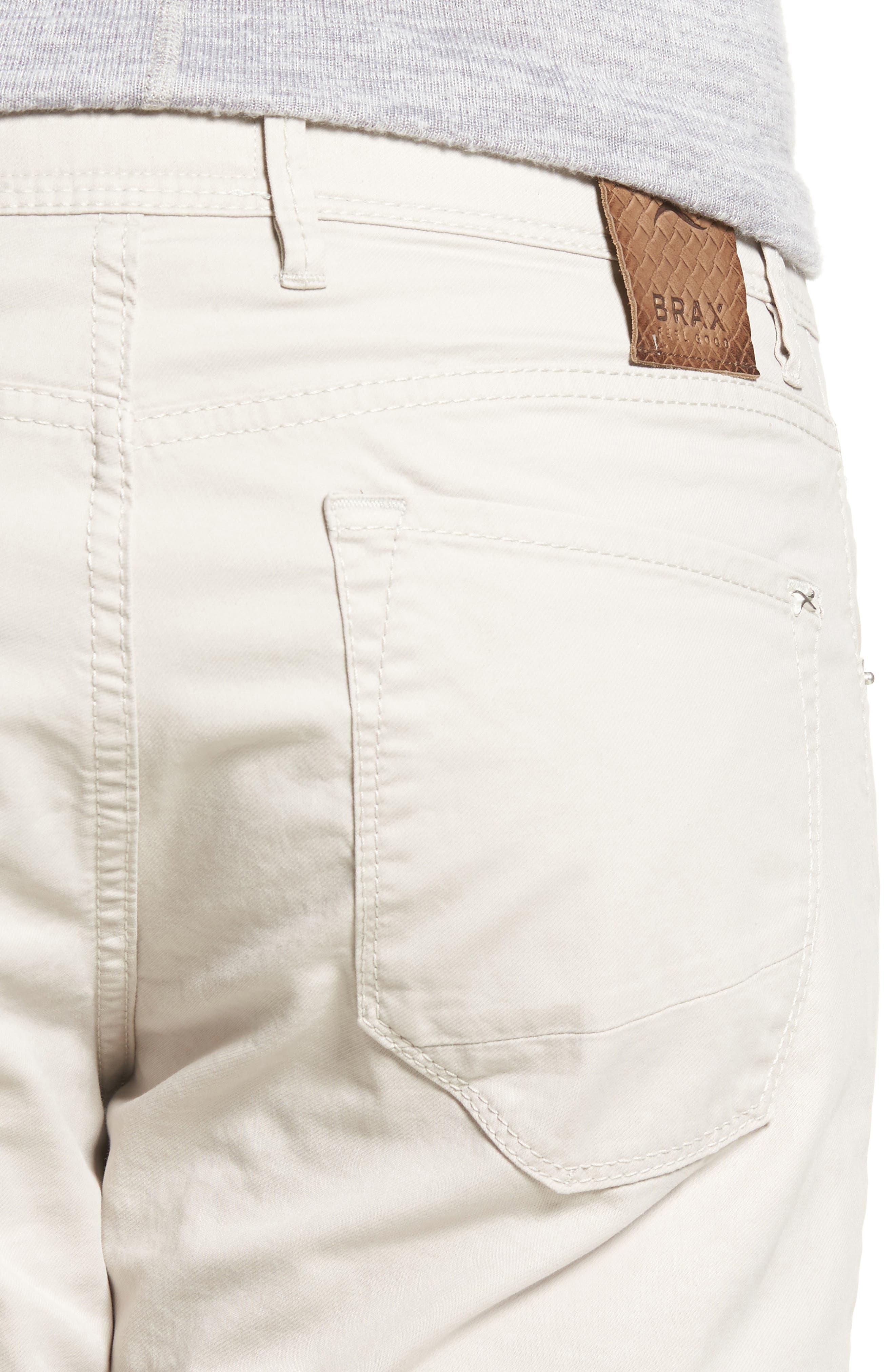 Chuck Flat Front Stretch Cotton Pants,                             Alternate thumbnail 4, color,                             250