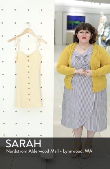 Button Down Rib Minidress, sales video thumbnail