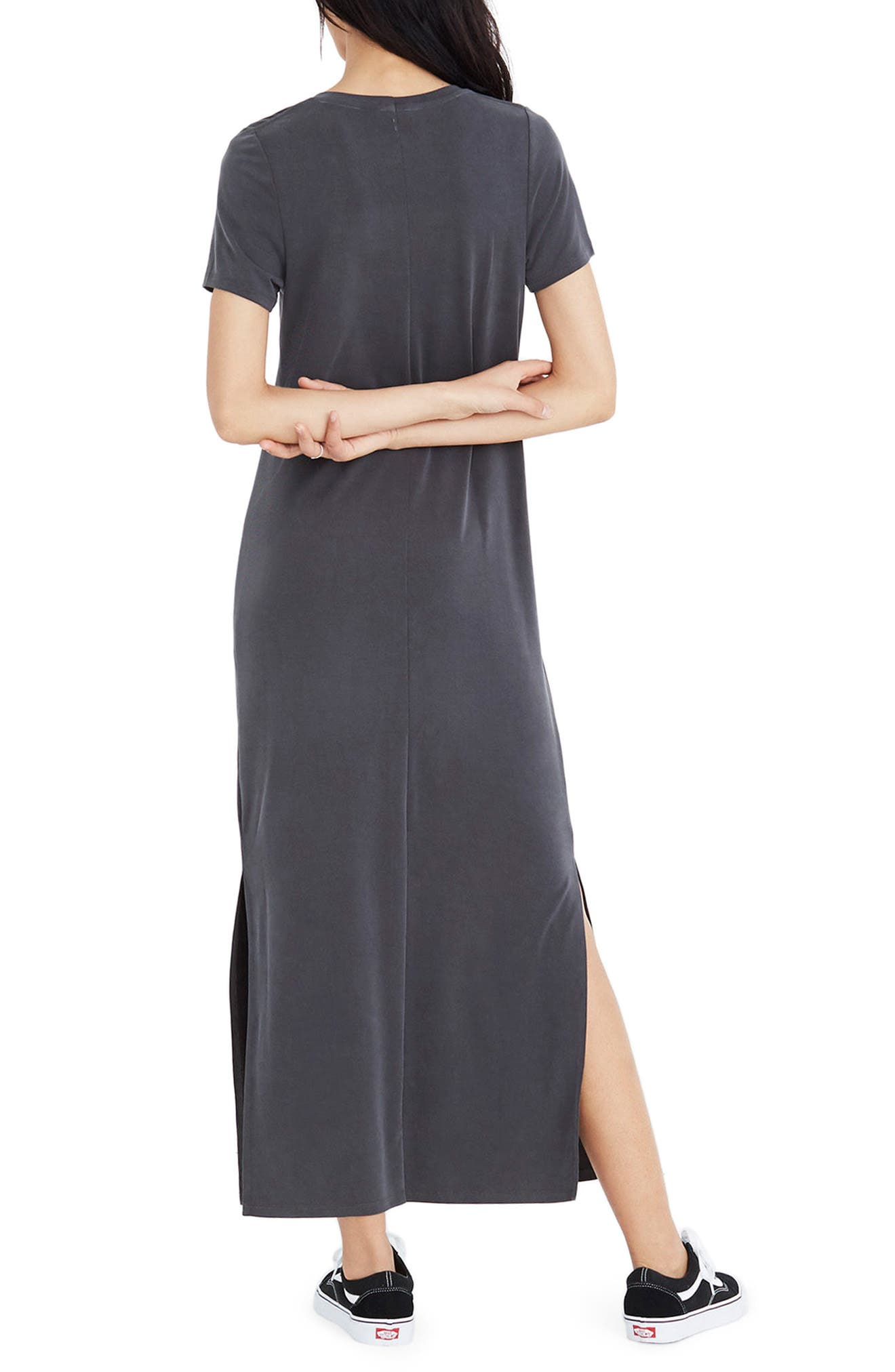 MADEWELL,                             Sandwashed Maxi T-Shirt Dress,                             Alternate thumbnail 2, color,                             020