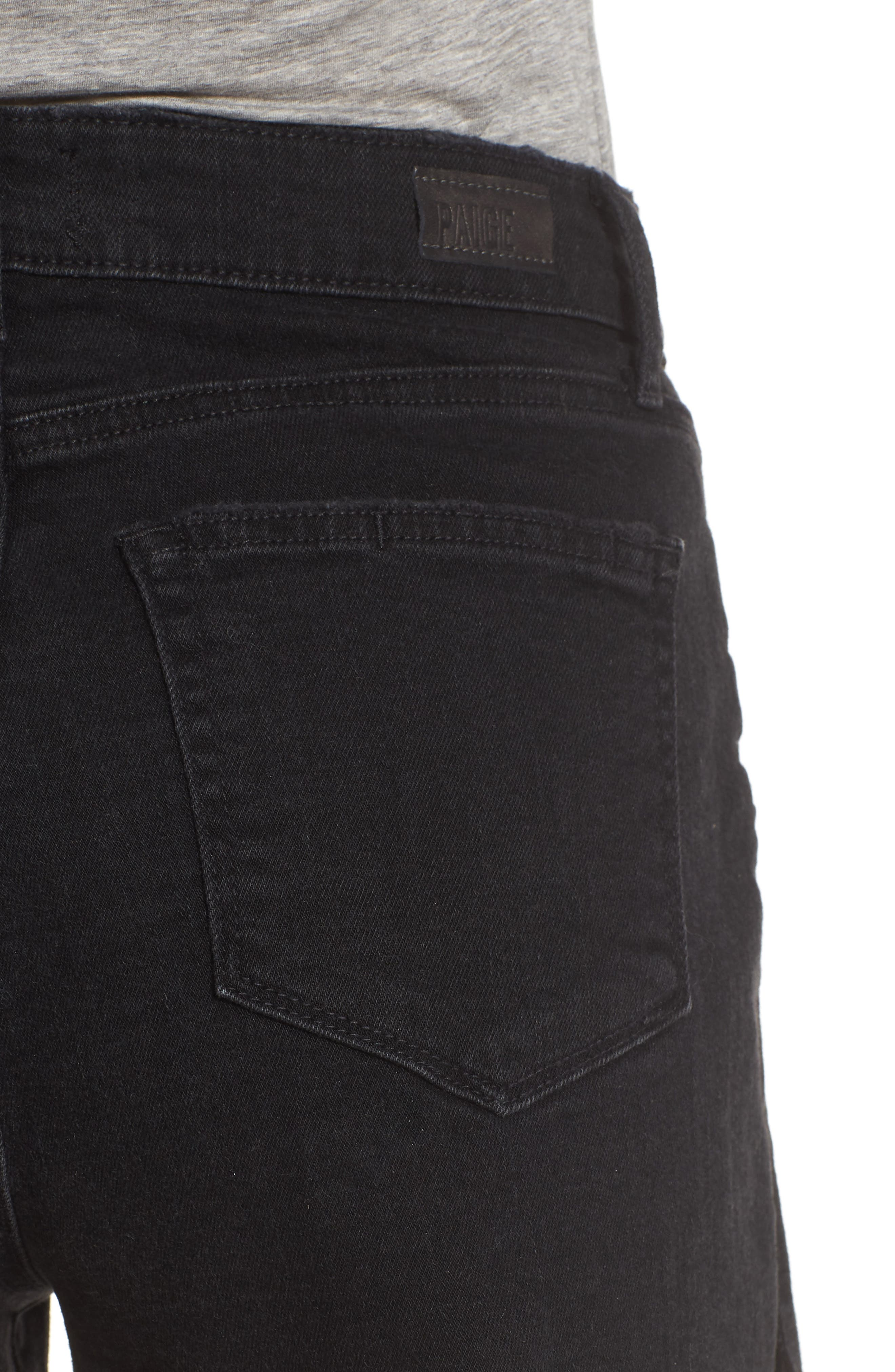 'Margot' High Rise Cutoff Denim Shorts,                             Alternate thumbnail 5, color,