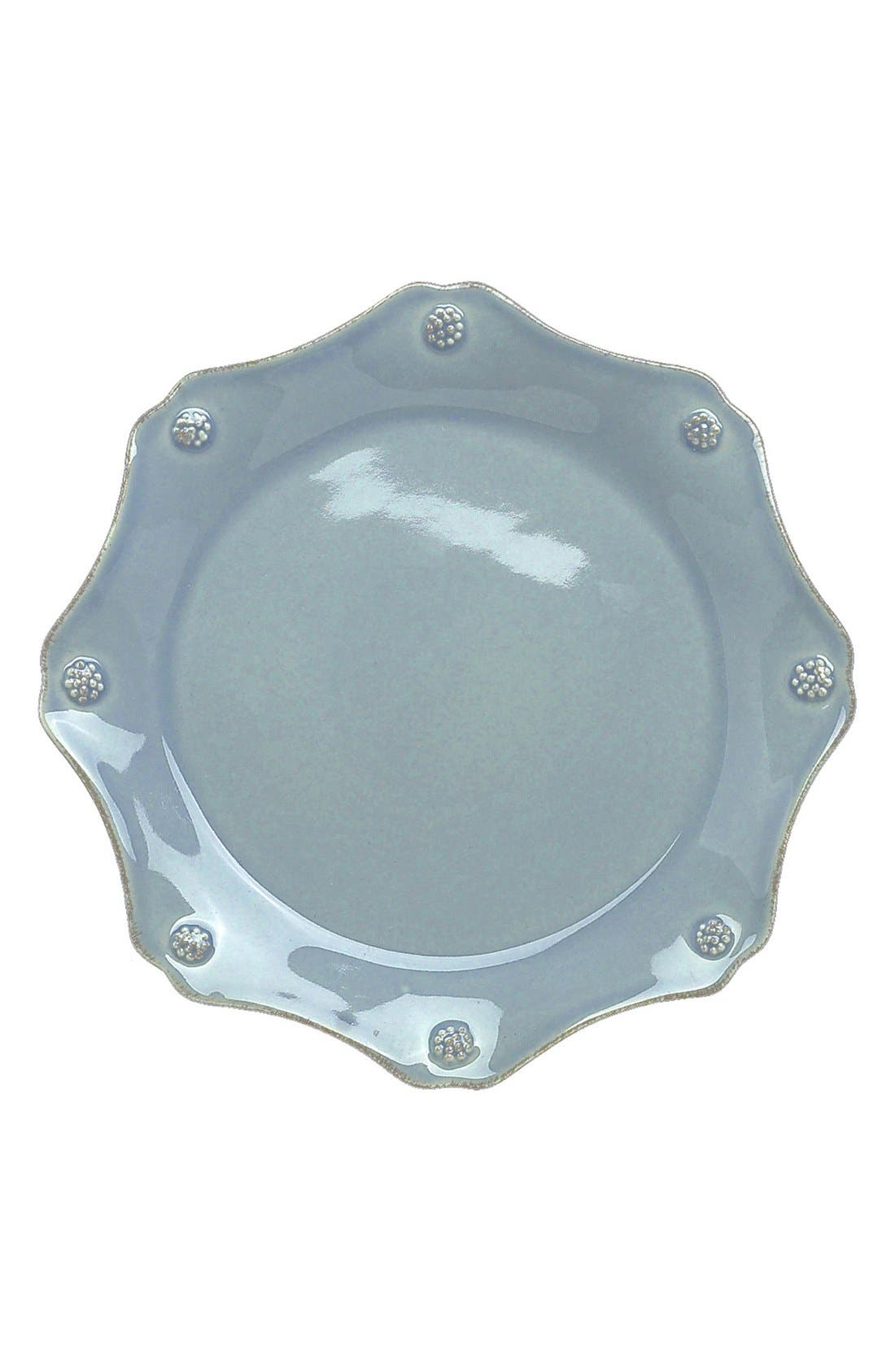 'Berry and Thread' Scalloped Salad Plate,                             Main thumbnail 1, color,                             ICE BLUE