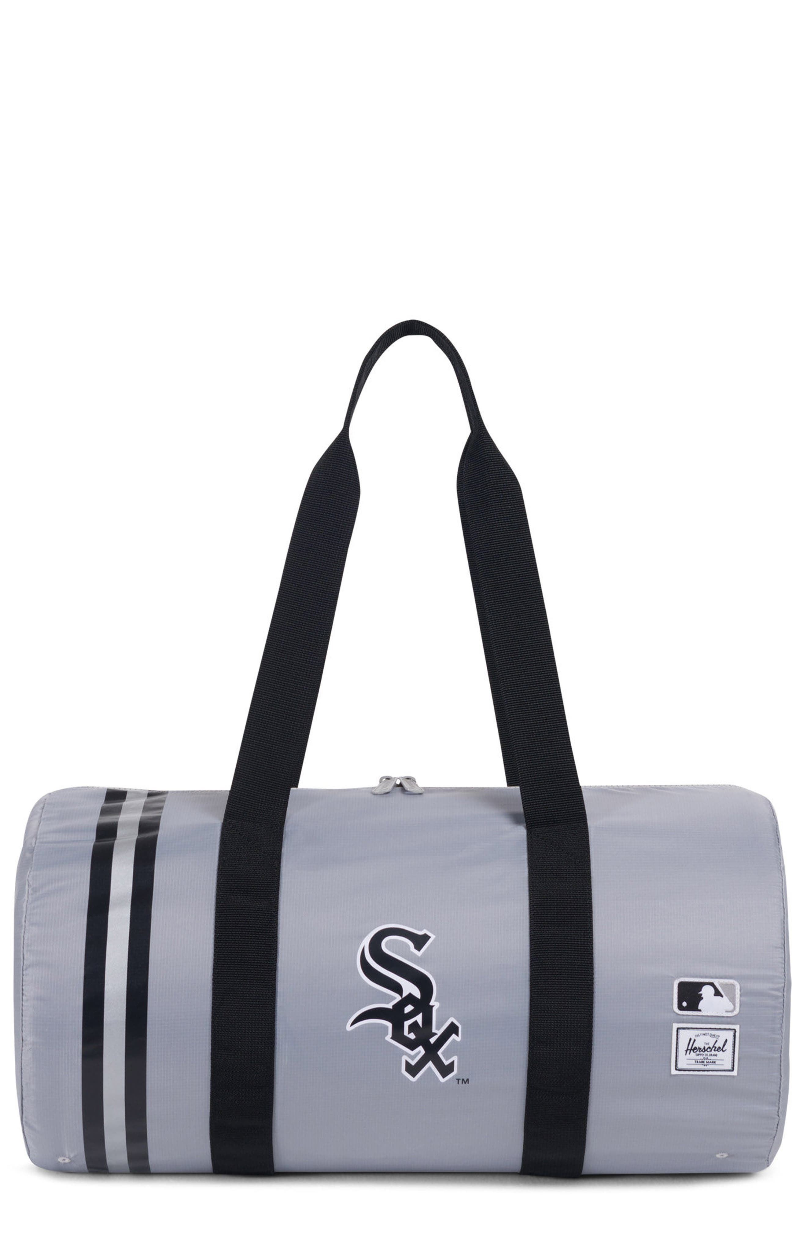 HERSCHEL SUPPLY CO.,                             Packable - MLB American League Duffel Bag,                             Main thumbnail 1, color,                             CHICAGO WHITE SOX